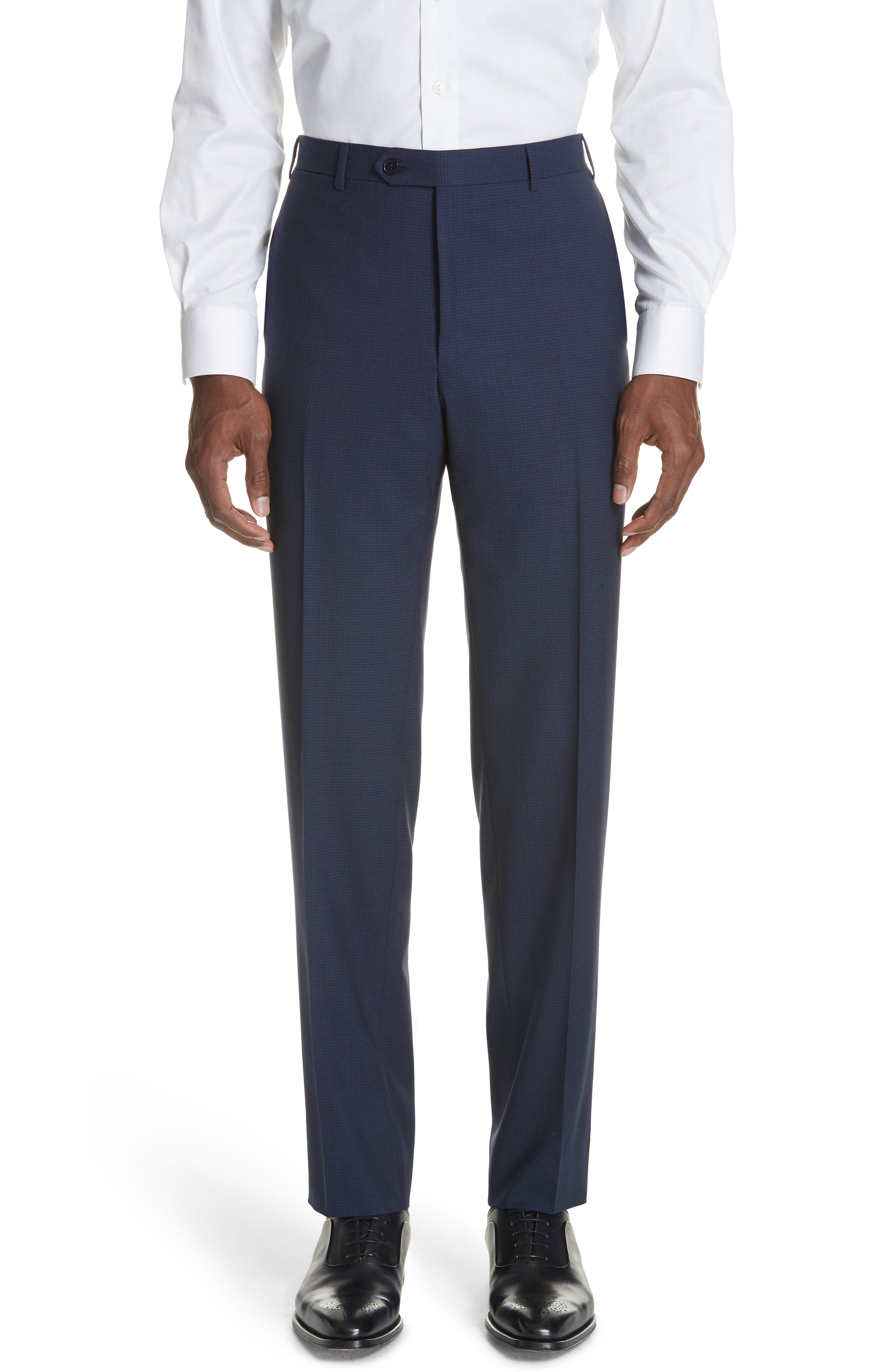 CANALI,                             Classic Fit Check Wool Suit,                             Alternate thumbnail 5, color,                             400