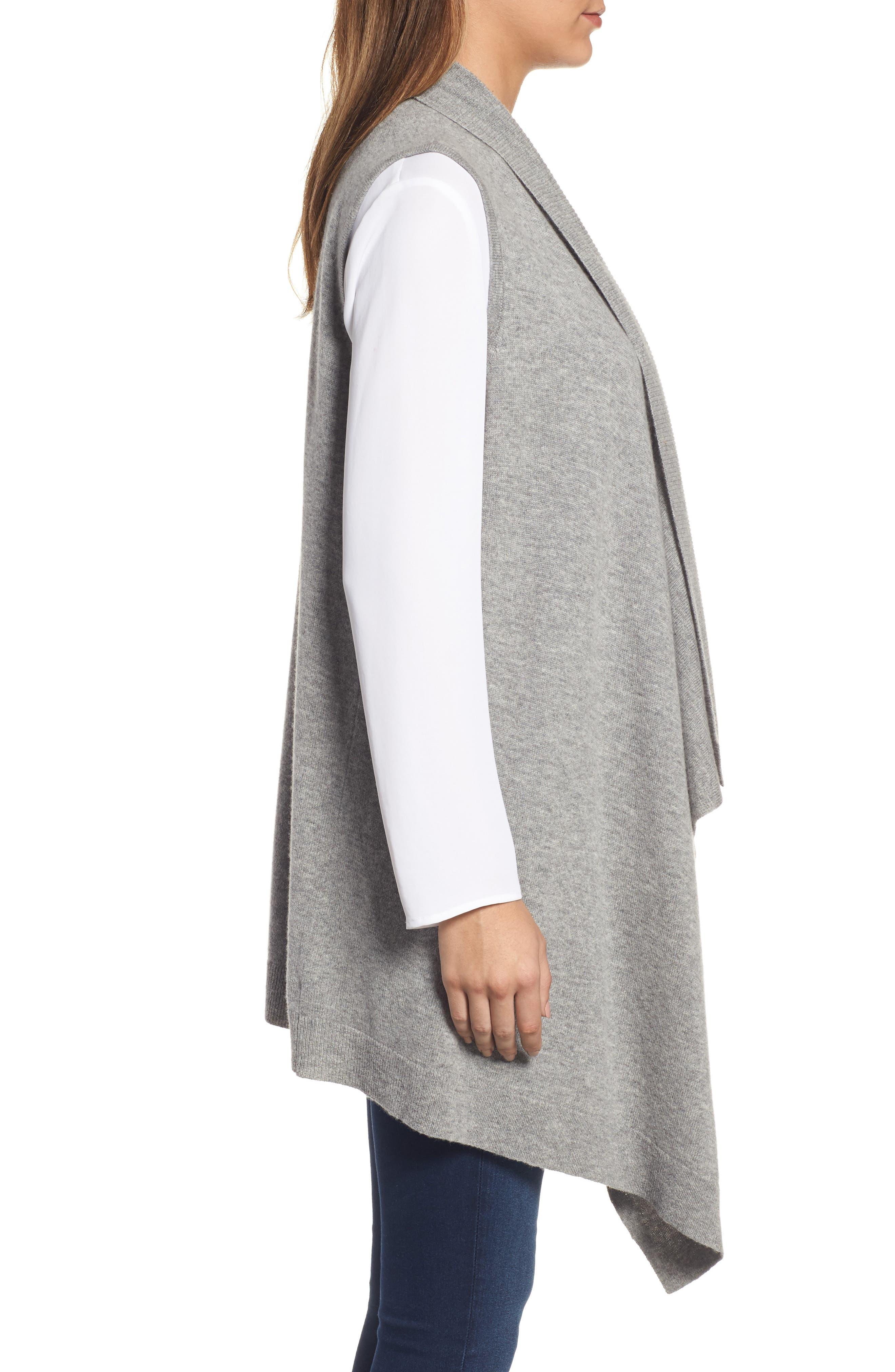 Wool & Cashmere Drape Front Sweater Vest,                             Alternate thumbnail 28, color,