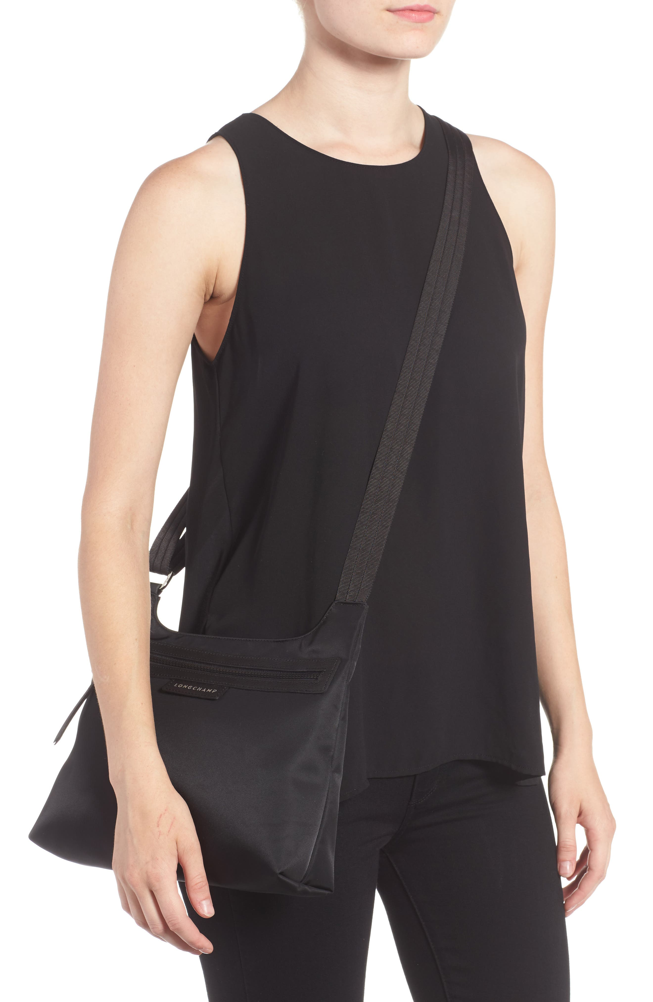 'Le Pliage Neo' Nylon Crossbody Bag,                             Alternate thumbnail 3, color,                             BLACK