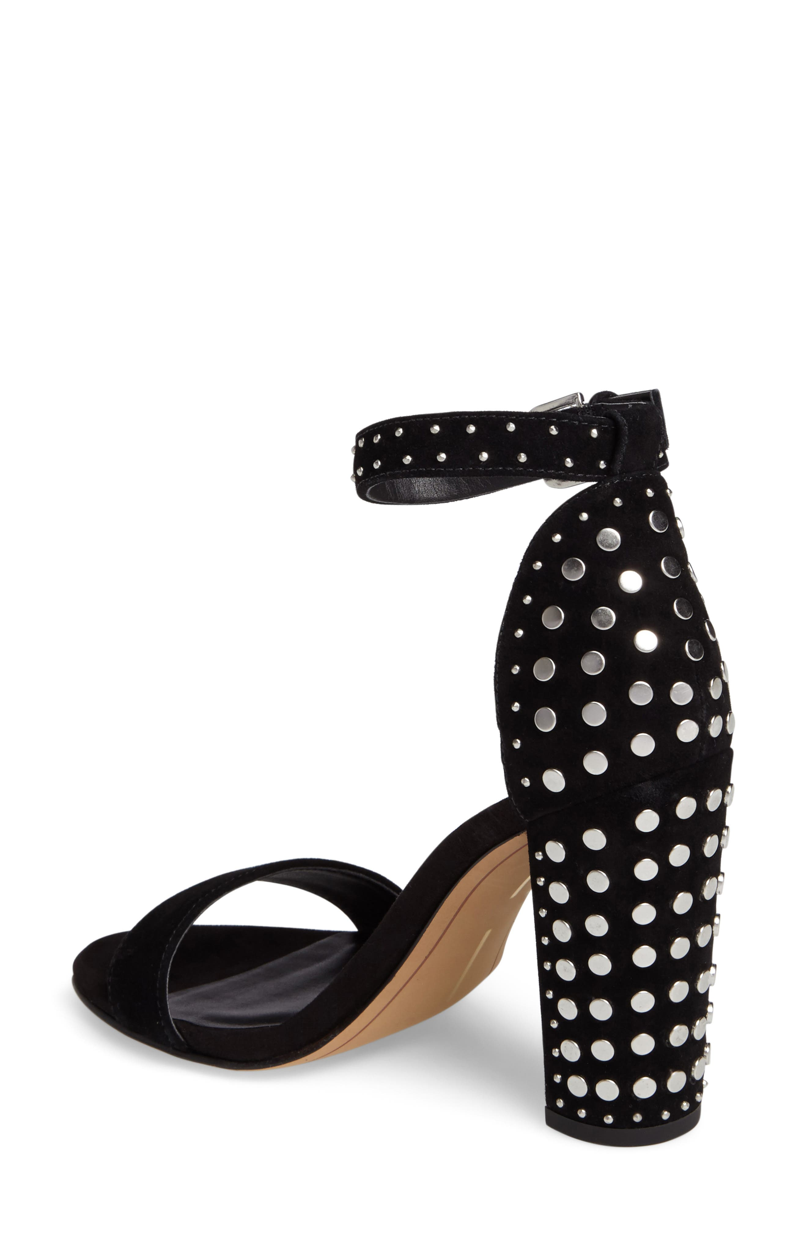 Hendrix Studded Sandal,                             Alternate thumbnail 2, color,                             001
