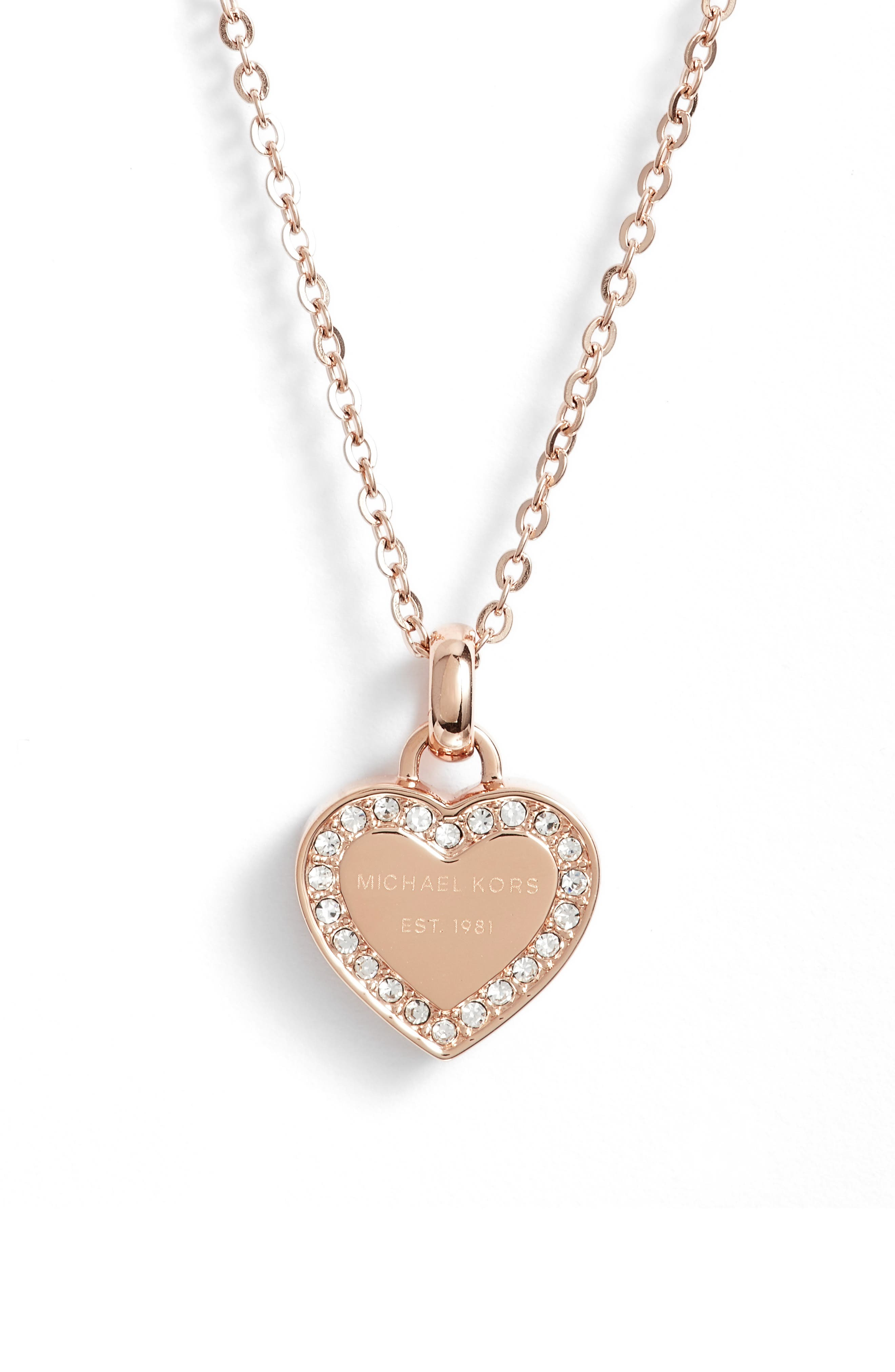 Heart Pendant Necklace,                         Main,                         color, 650