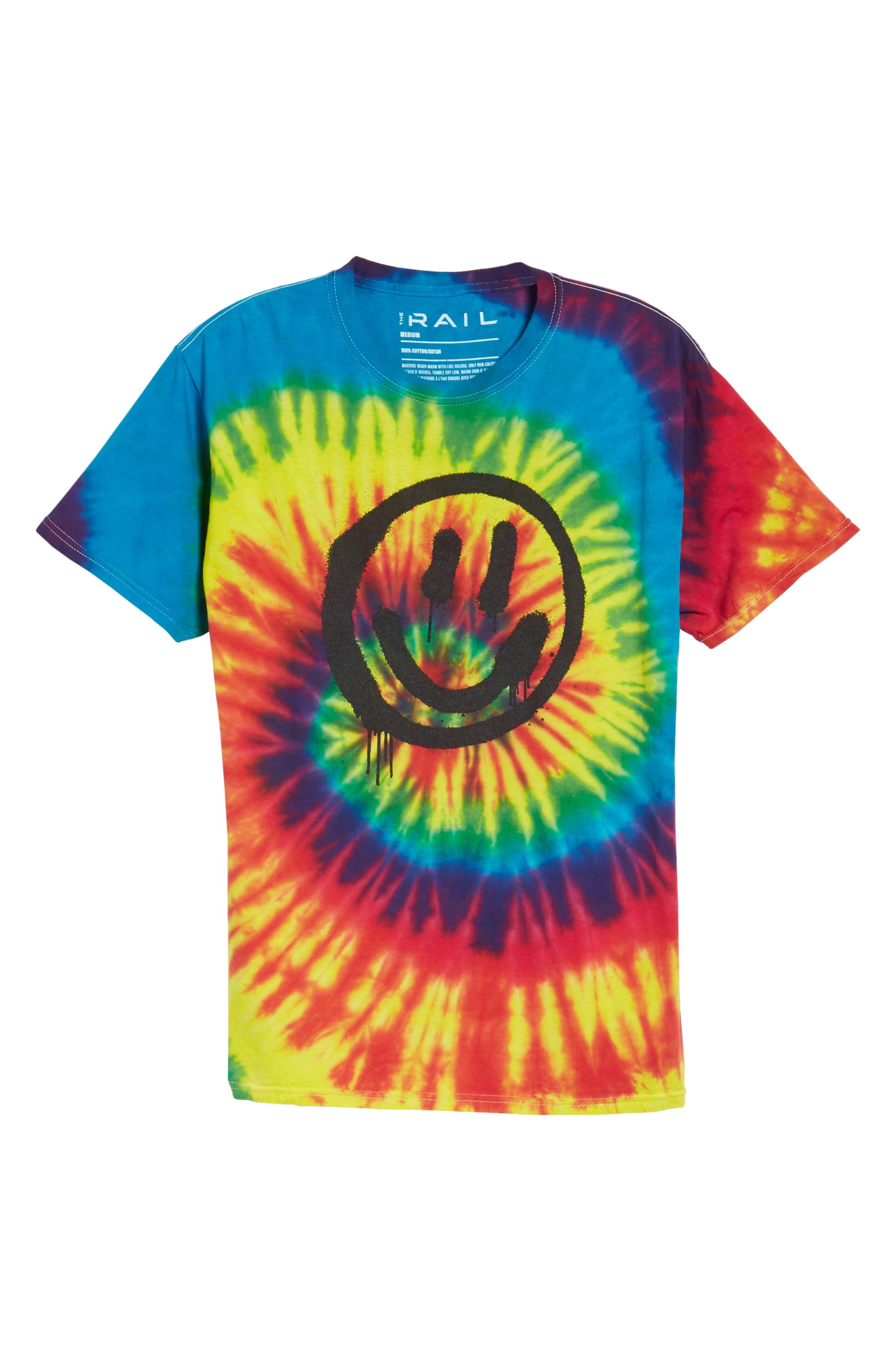 Tie Dye Smiley T-Shirt,                             Alternate thumbnail 6, color,                             960