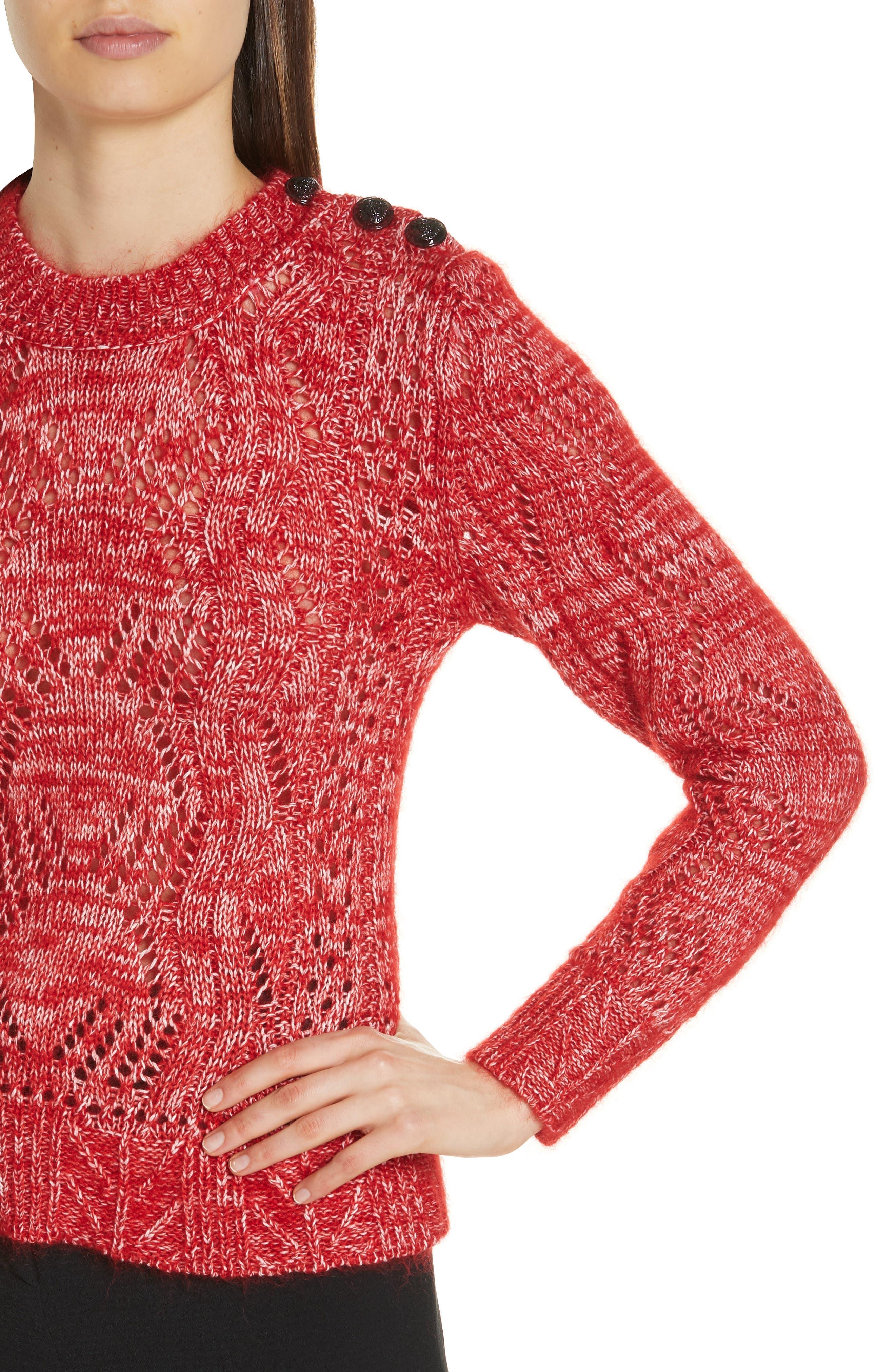 Numa Cotton & Silk Blend Sweater,                             Alternate thumbnail 4, color,                             600