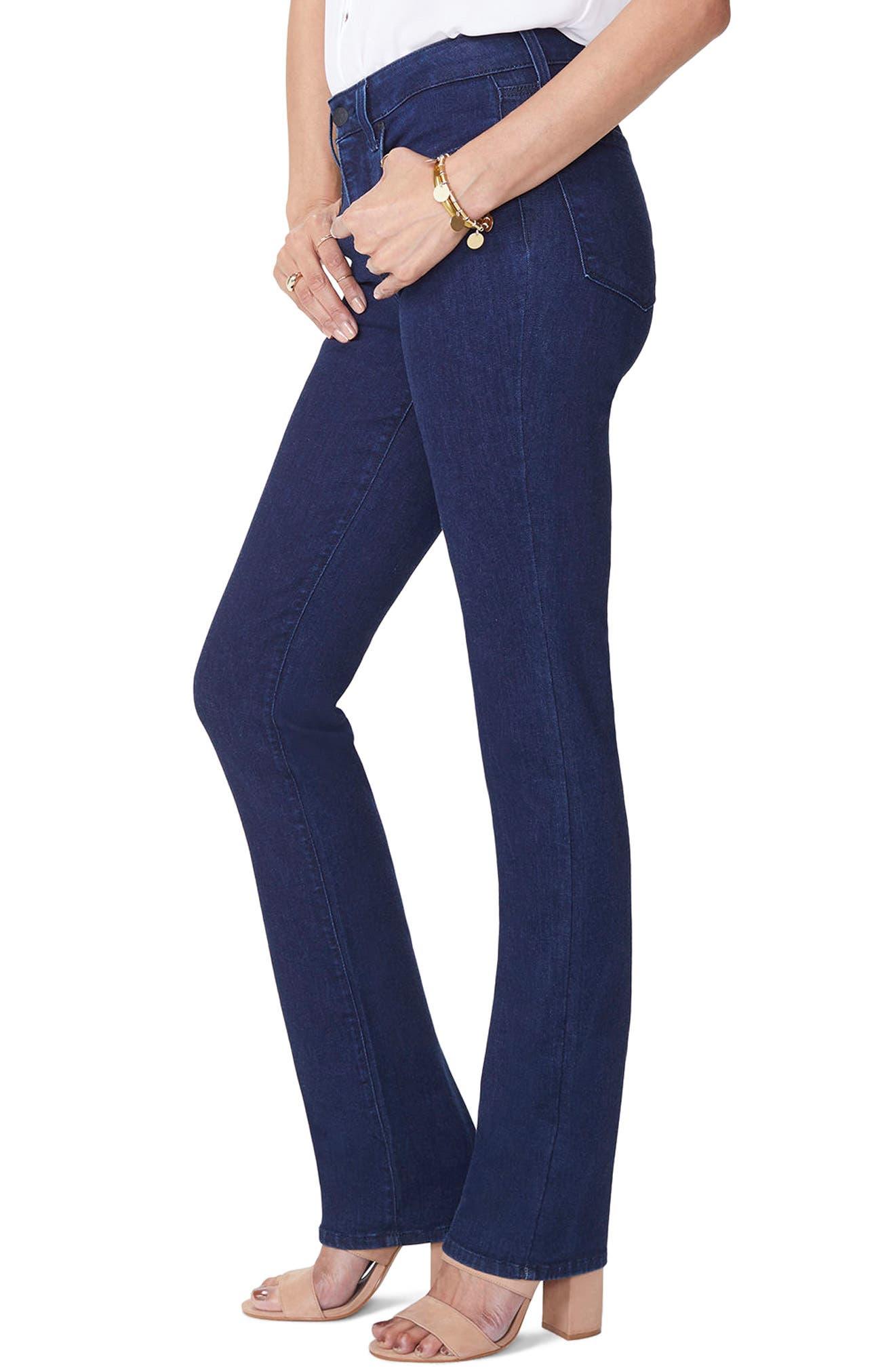 Marilyn High Waist Stretch Straight Leg Jeans,                             Alternate thumbnail 3, color,                             RINSE