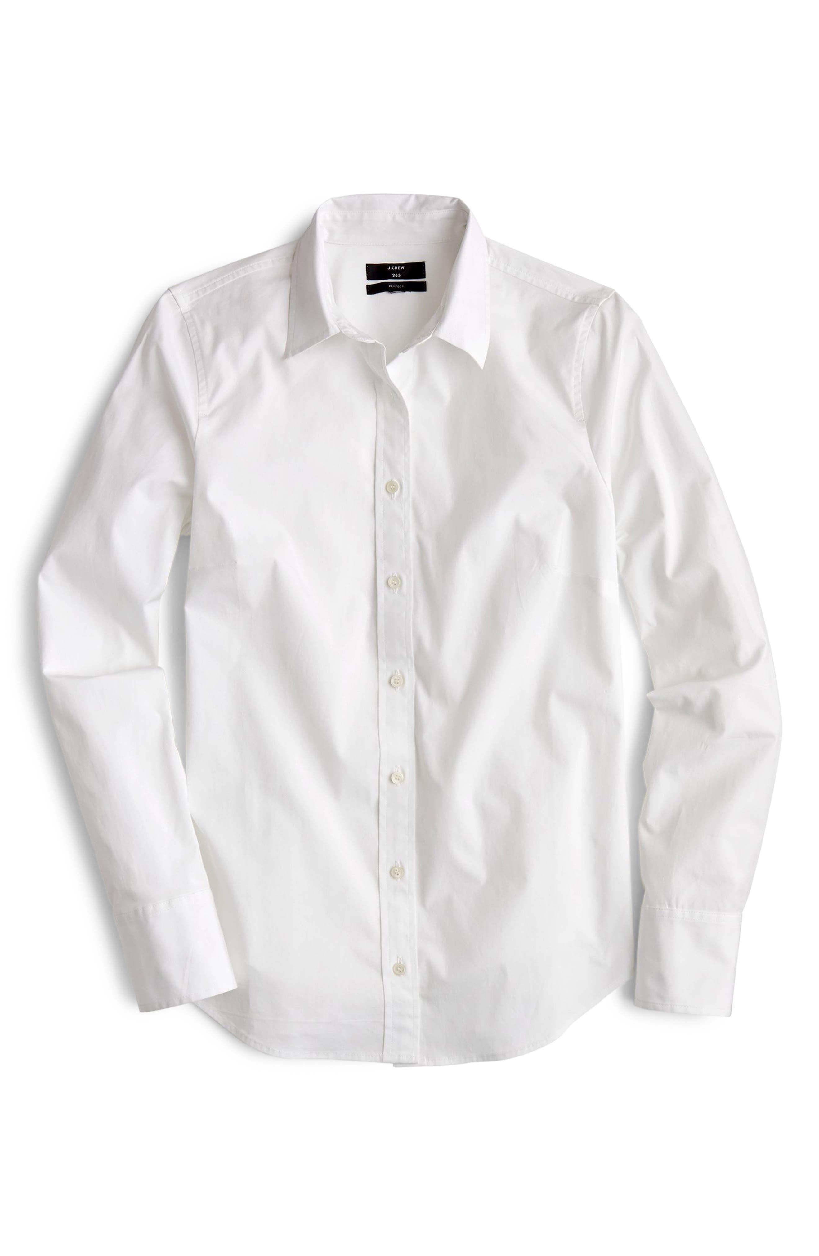 Slim Stretch Perfect Shirt,                             Main thumbnail 1, color,                             100