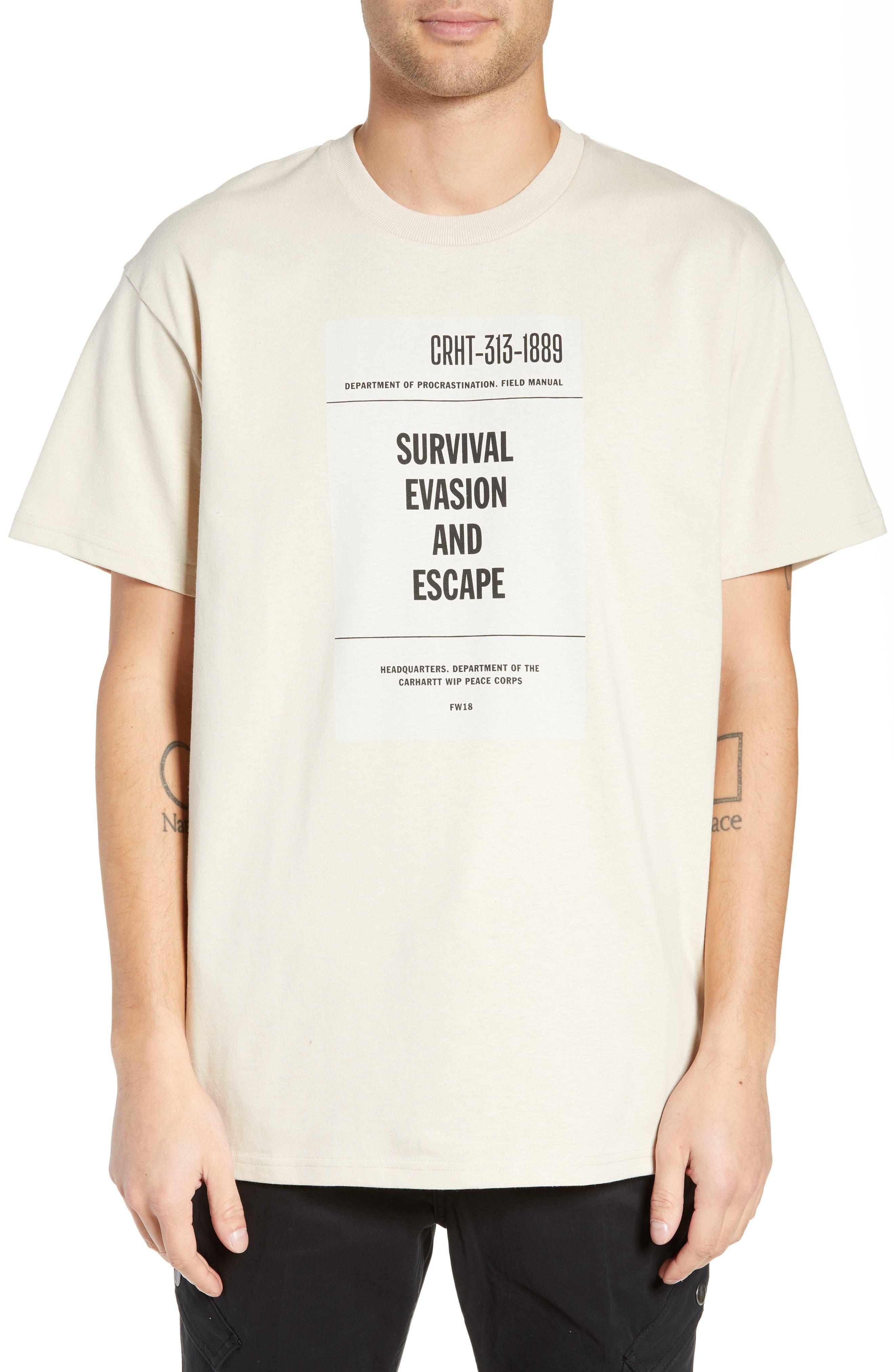 CARHARTT WORK IN PROGRESS,                             Survival Graphic T-Shirt,                             Main thumbnail 1, color,                             250
