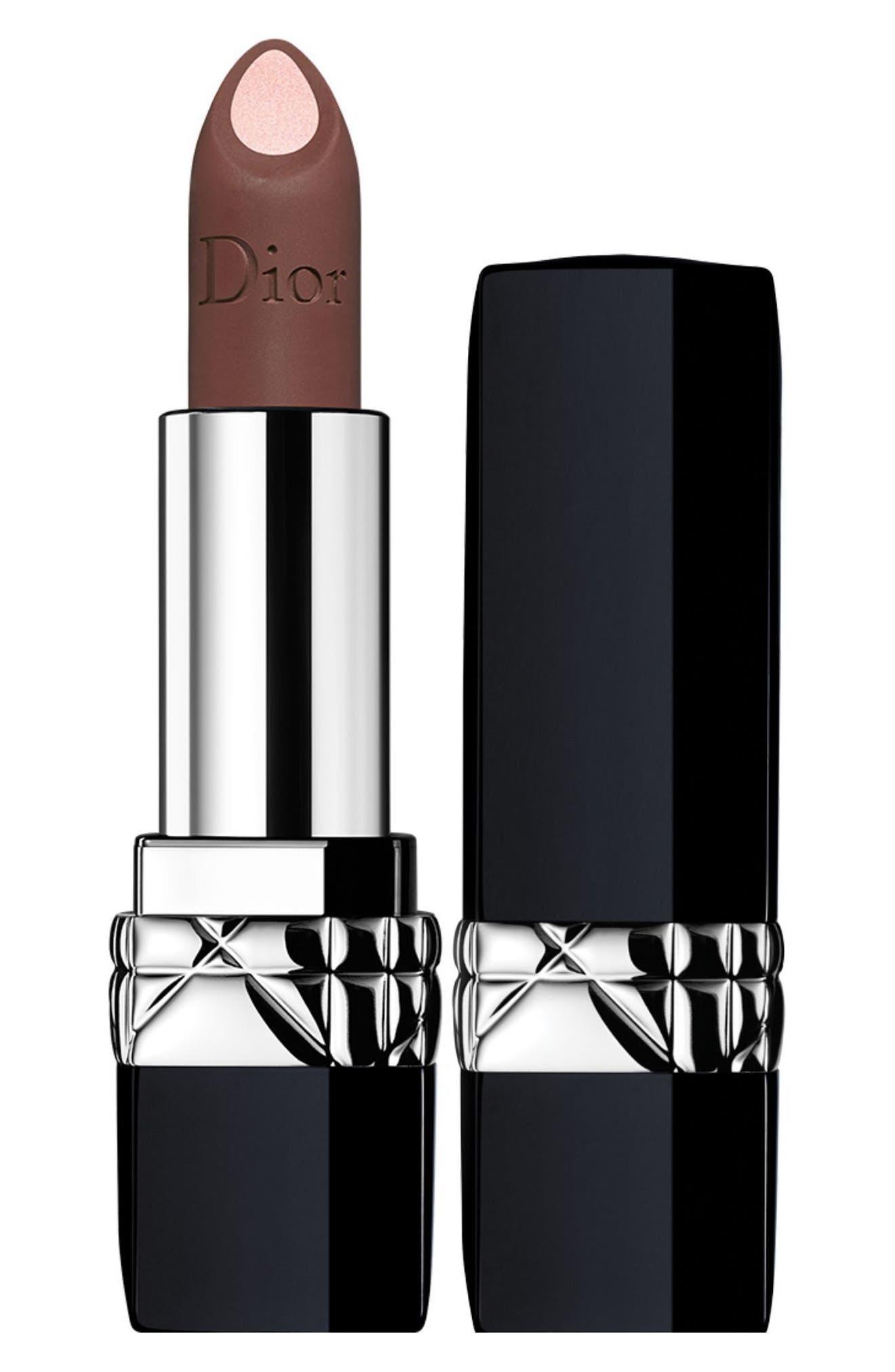 Rouge Dior Double Rouge Matte Metal Colour & Couture Contour Lipstick,                         Main,                         color, 510 JUNGLE BEIGE