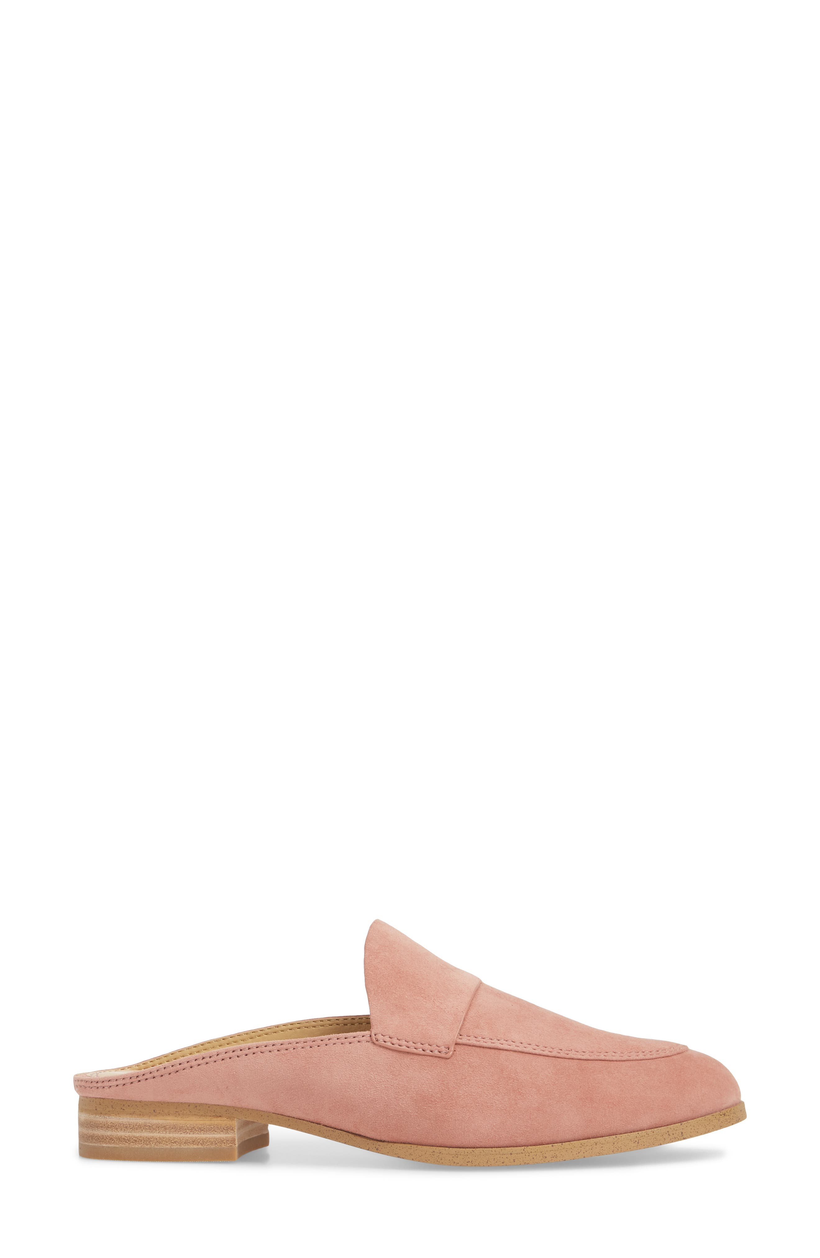 Nima Loafer Mule,                             Alternate thumbnail 3, color,                             ROSE TAUPE SUEDE