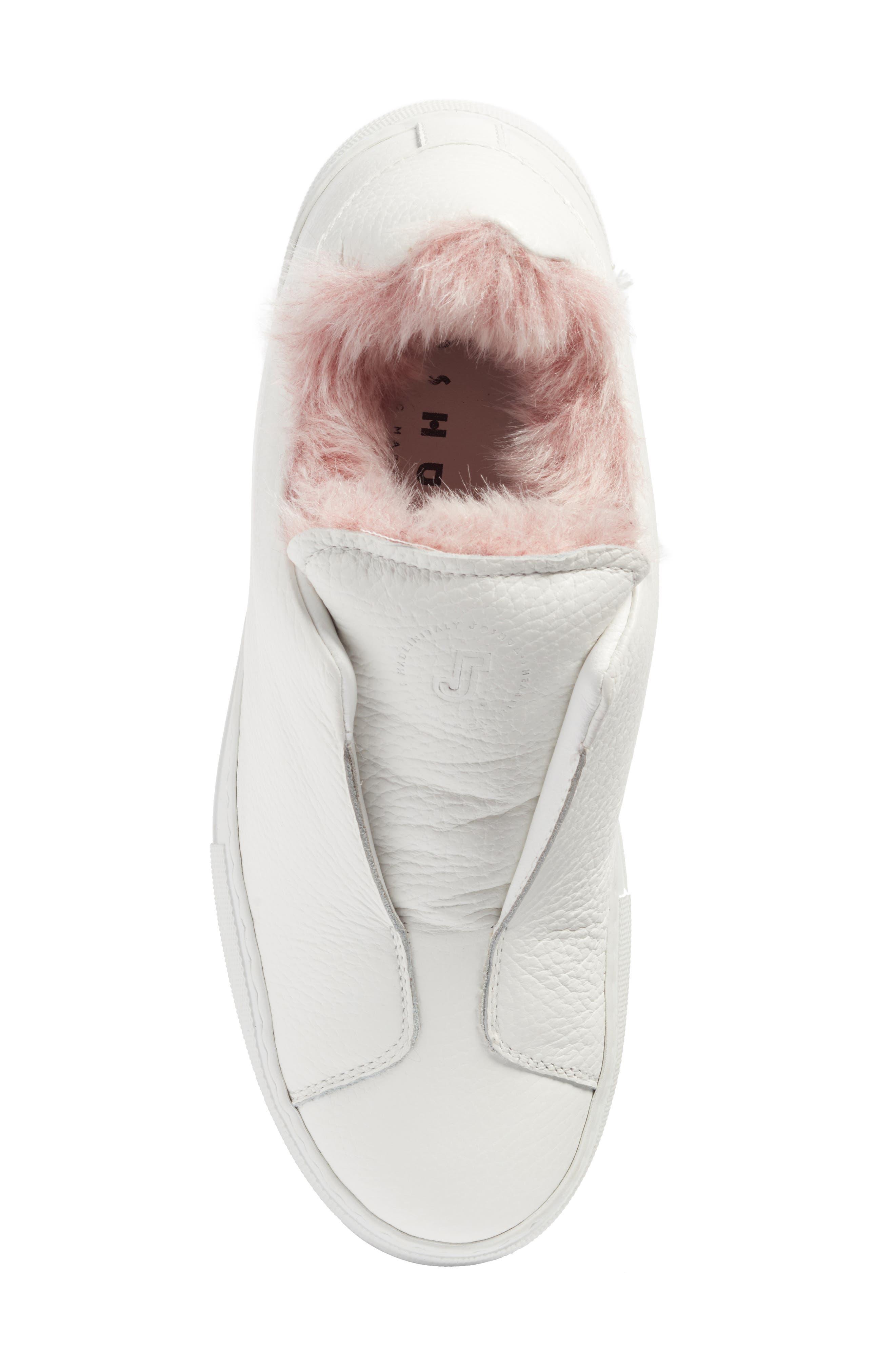 Faux Fur Slip-On Sneaker,                             Alternate thumbnail 10, color,