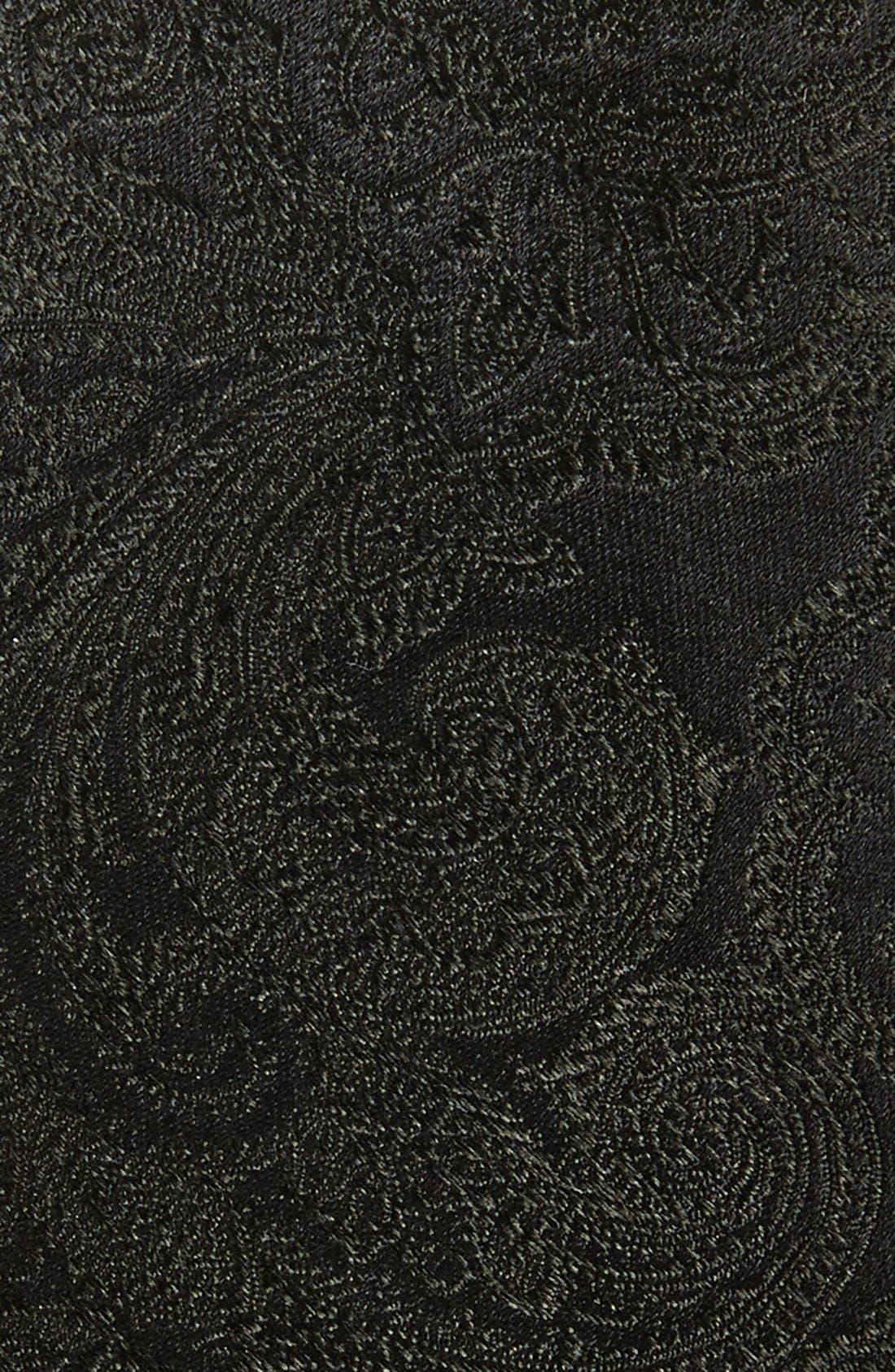 THE TIE BAR,                             Silk Paisley Tie,                             Alternate thumbnail 2, color,                             BLACK