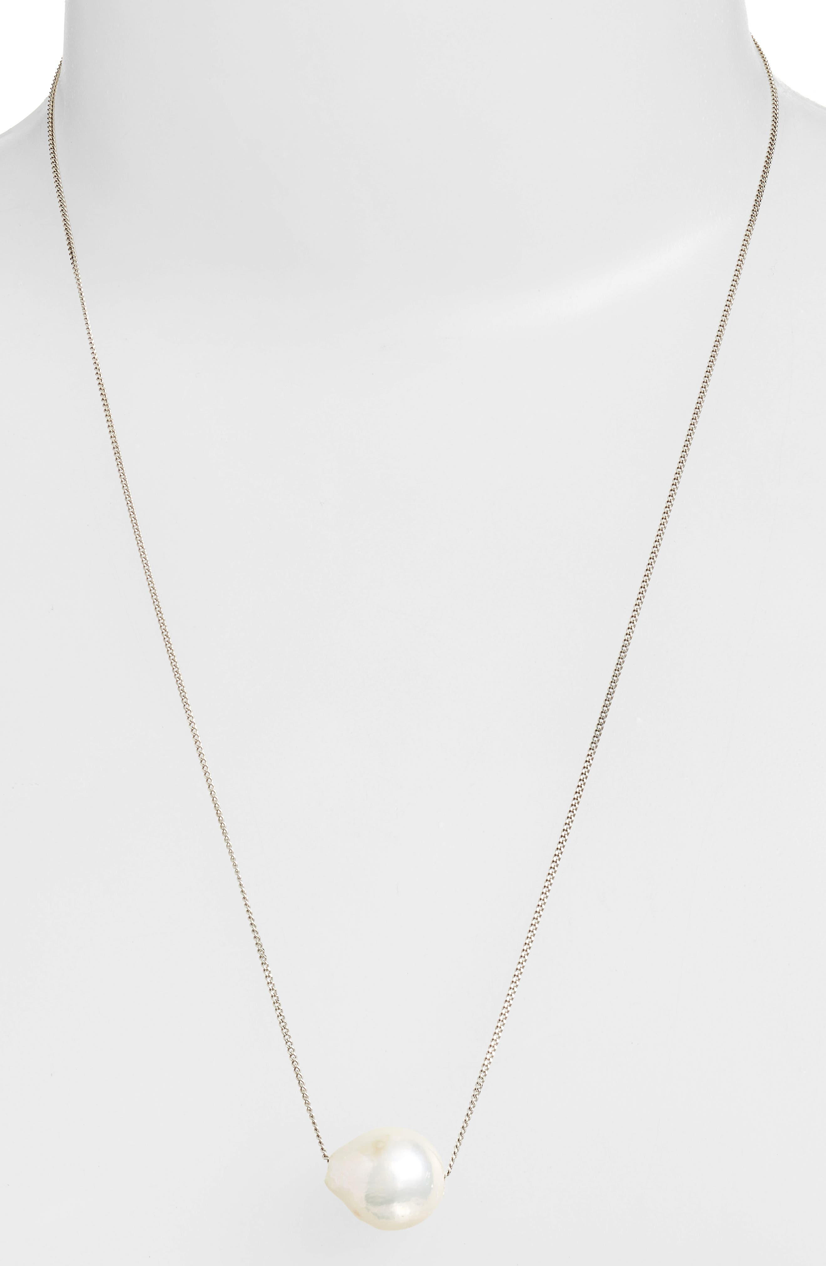Pearl Pendant Necklace,                             Alternate thumbnail 4, color,