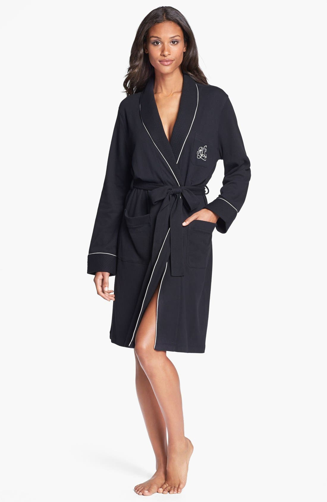 Quilted Collar Robe,                             Main thumbnail 1, color,