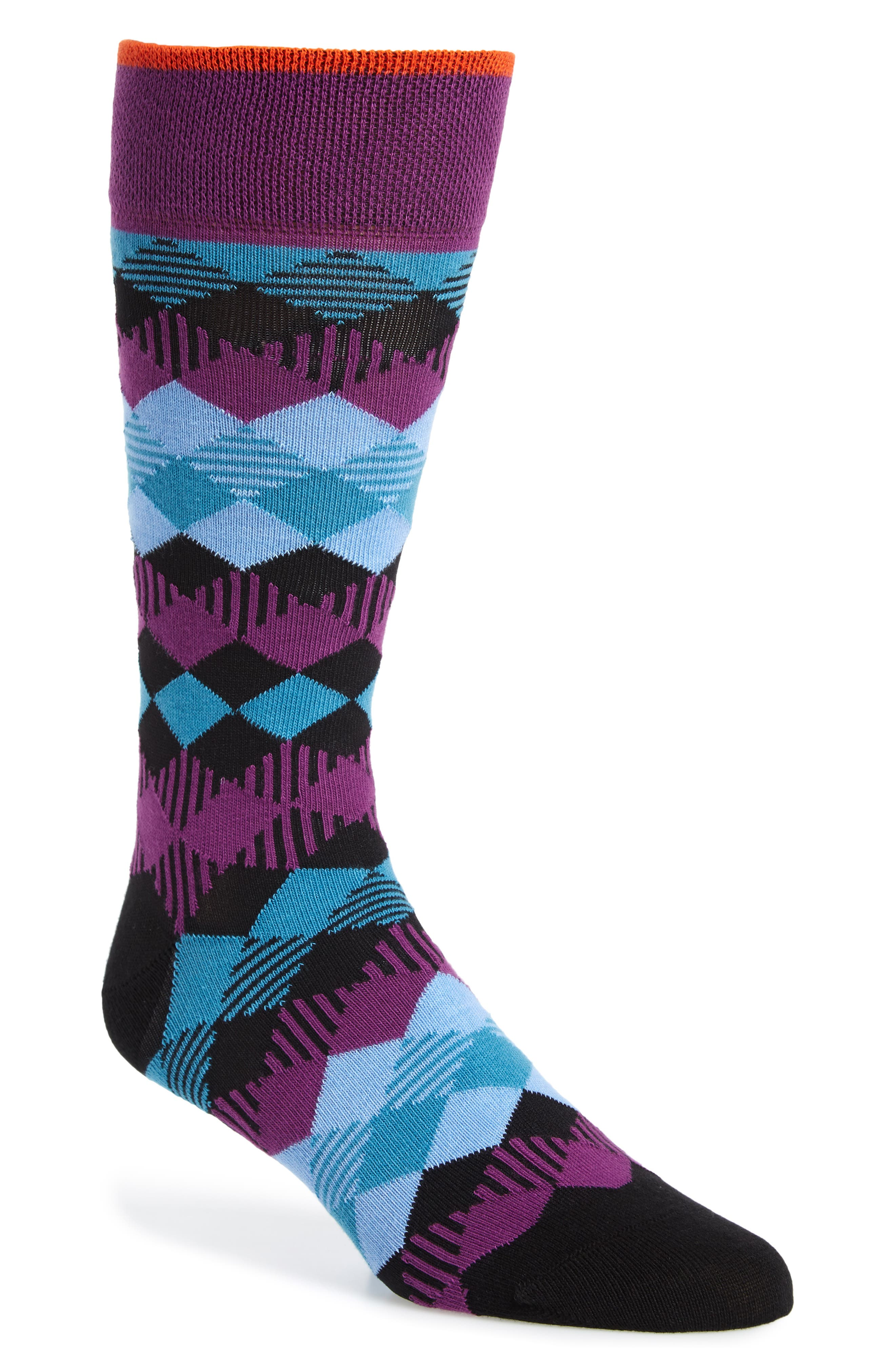 Pheew Diamond Socks,                         Main,                         color, NAVY