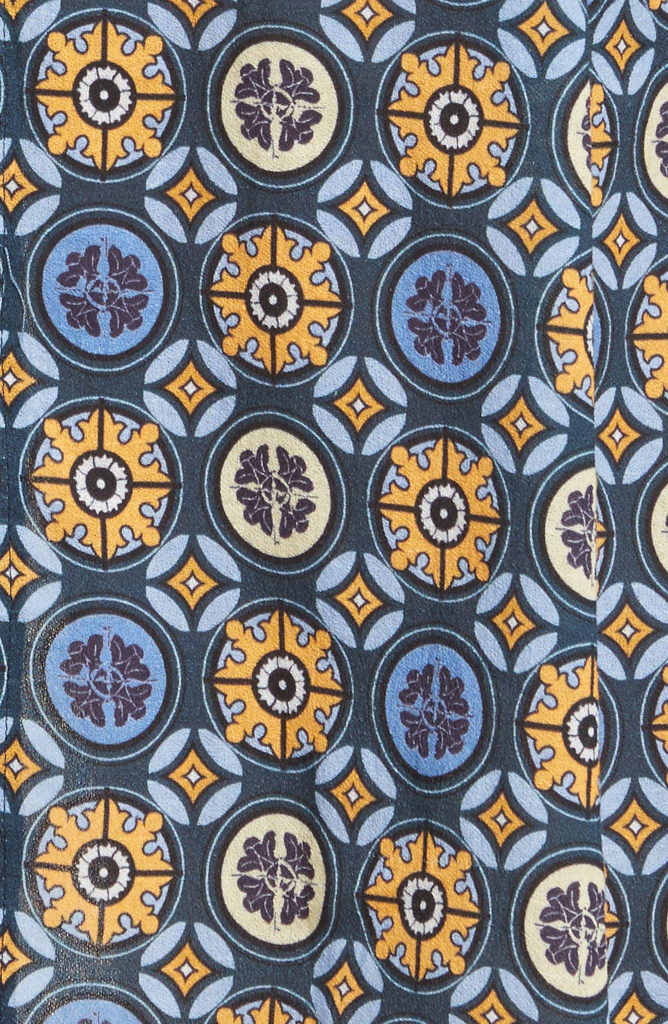 Tile Pattern Cotton Dress,                             Alternate thumbnail 5, color,                             452