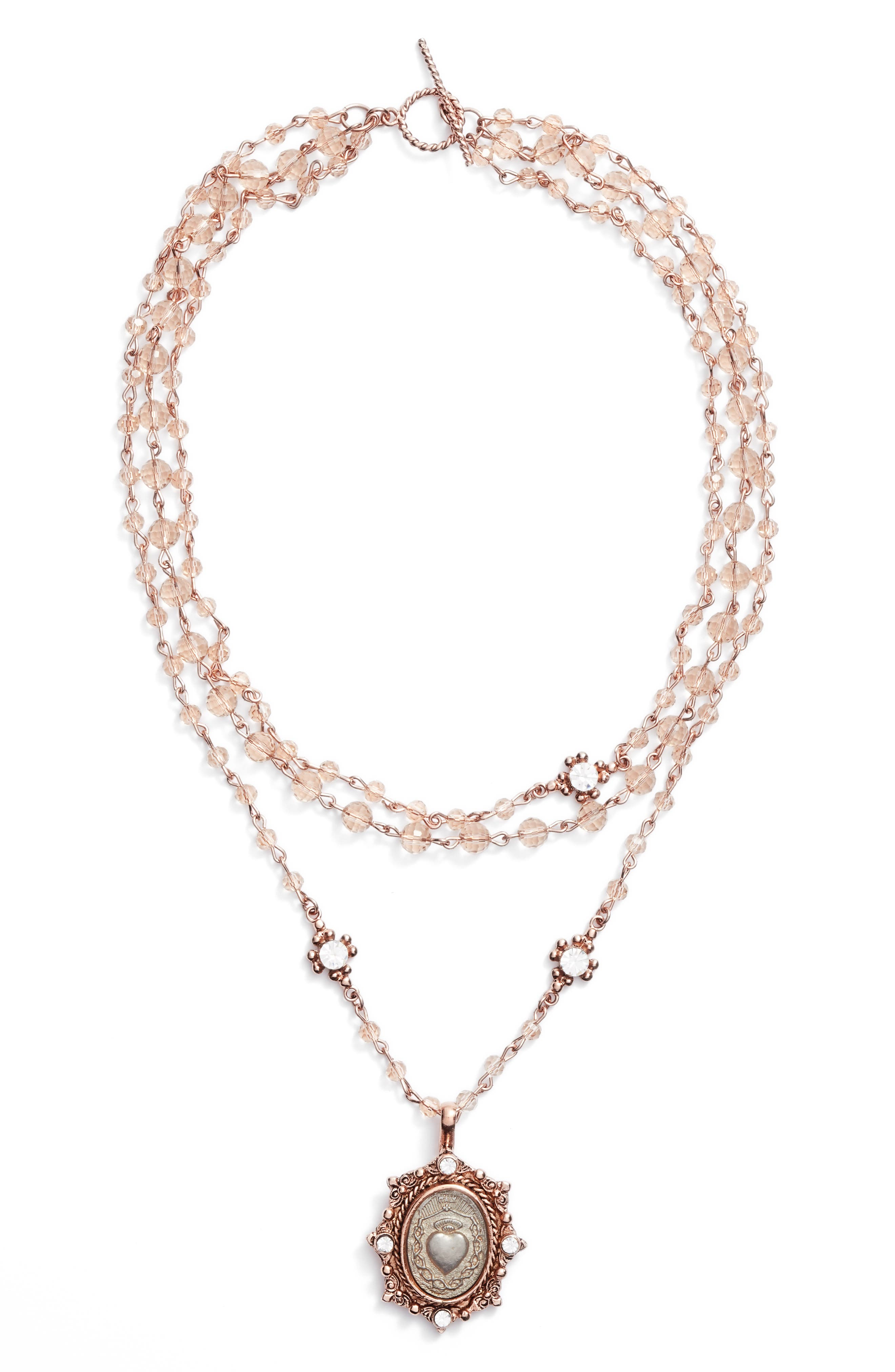 Sacred Heart Magdalena Multistrand Necklace,                             Main thumbnail 1, color,                             710