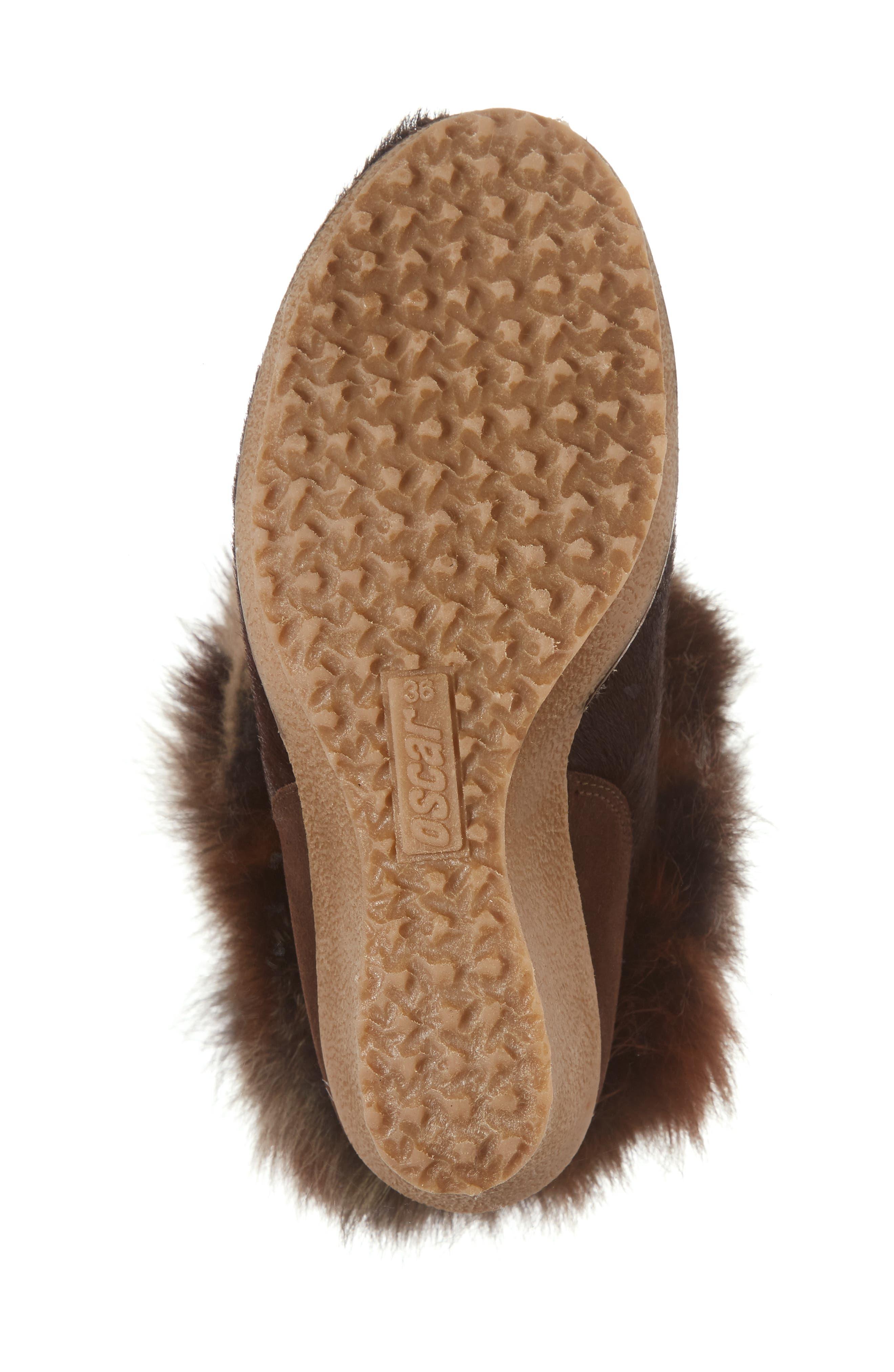Angelina Genuine Fox Fur Wedge Boot,                             Alternate thumbnail 23, color,