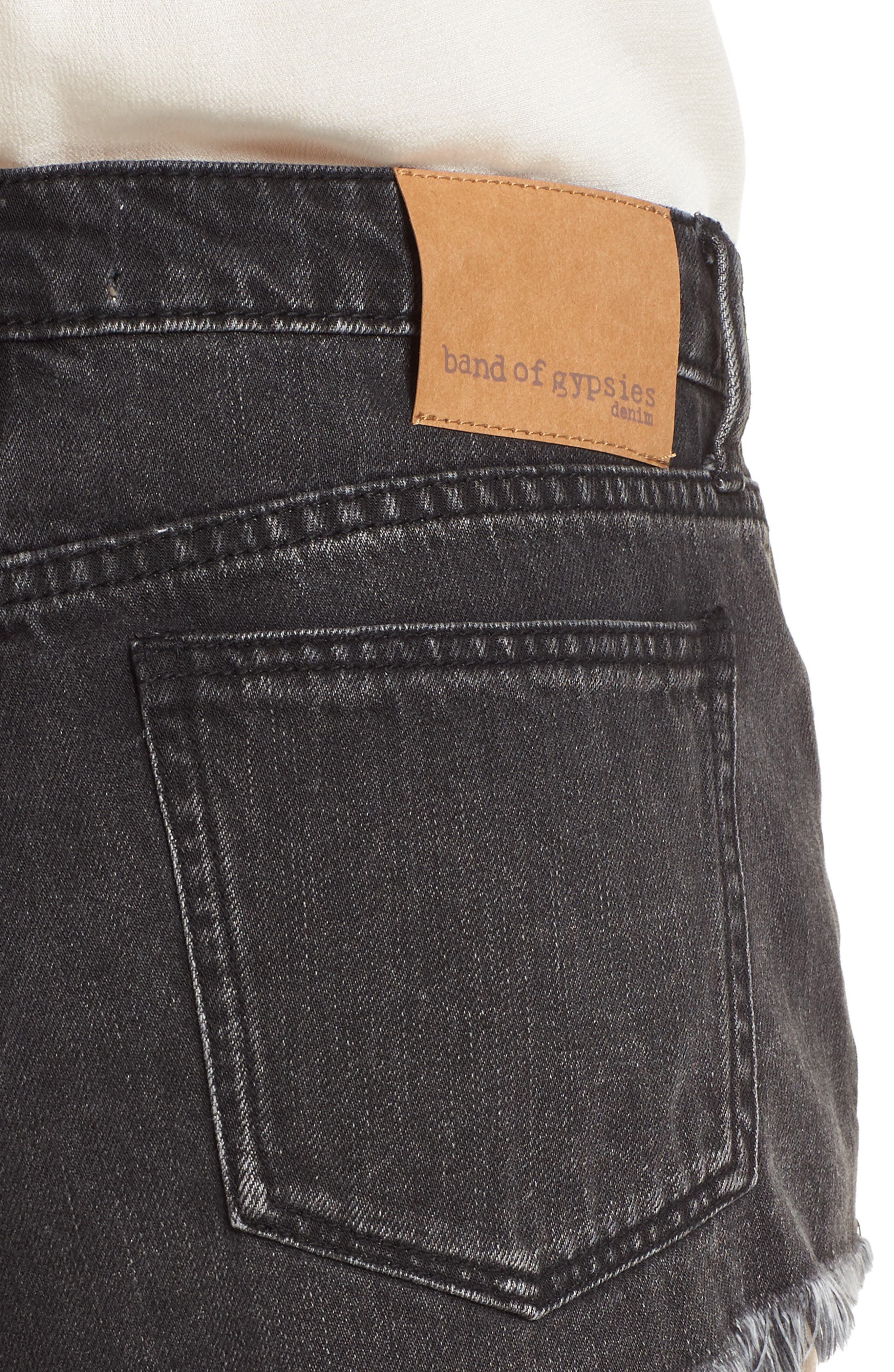 Riley Denim Shorts,                             Alternate thumbnail 4, color,