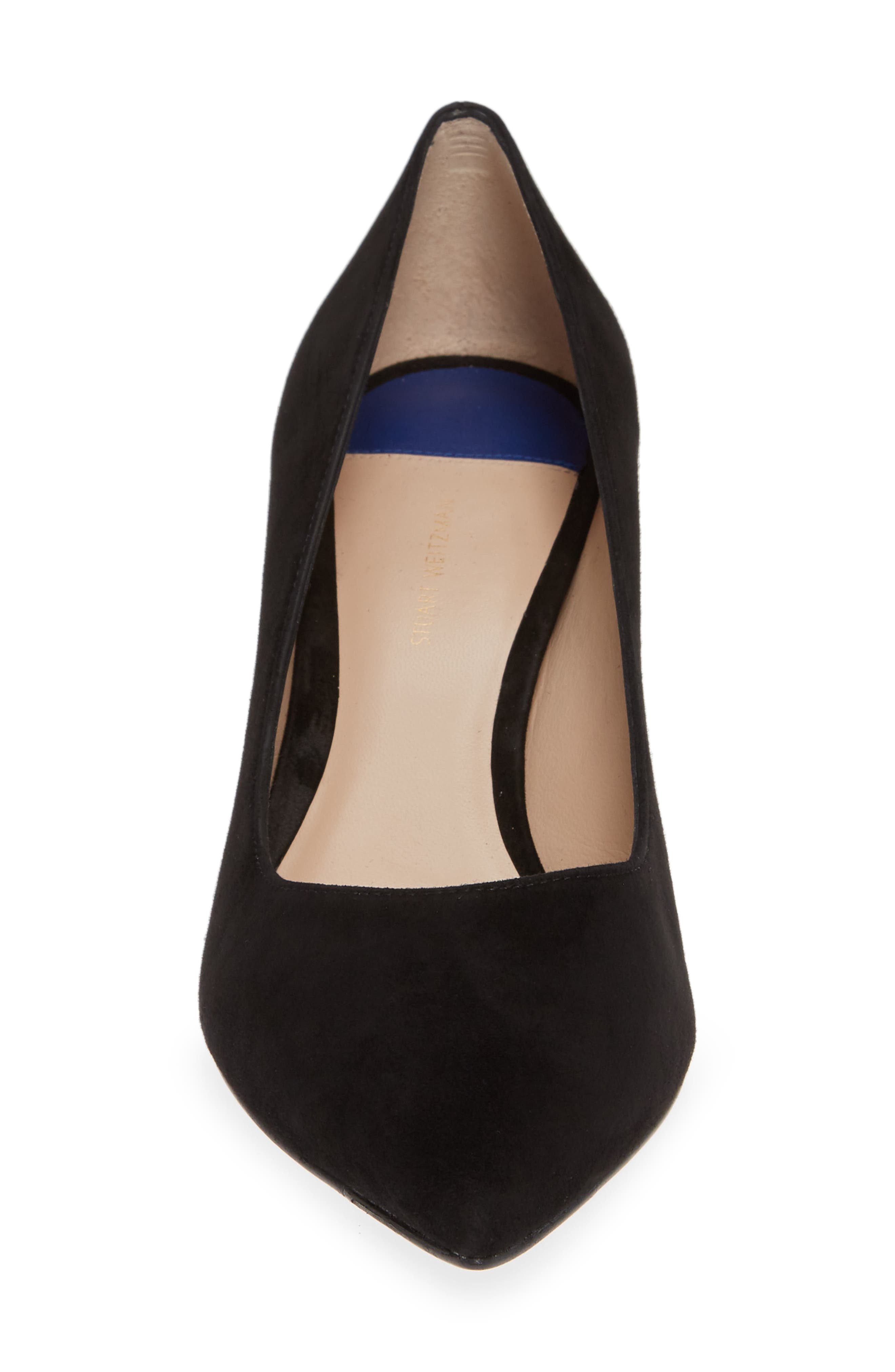 Tippi 70 Pointy Toe Pump,                             Alternate thumbnail 4, color,                             PITCH BLACK