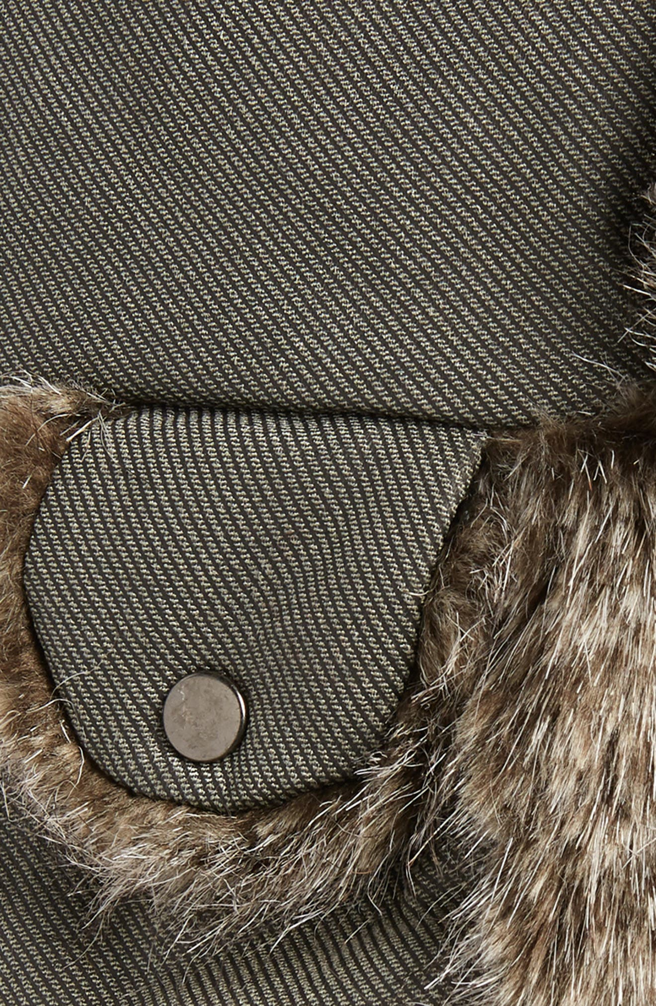 Waxed Cotton Aviator Hat with Faux Fur Lining,                             Alternate thumbnail 2, color,                             020