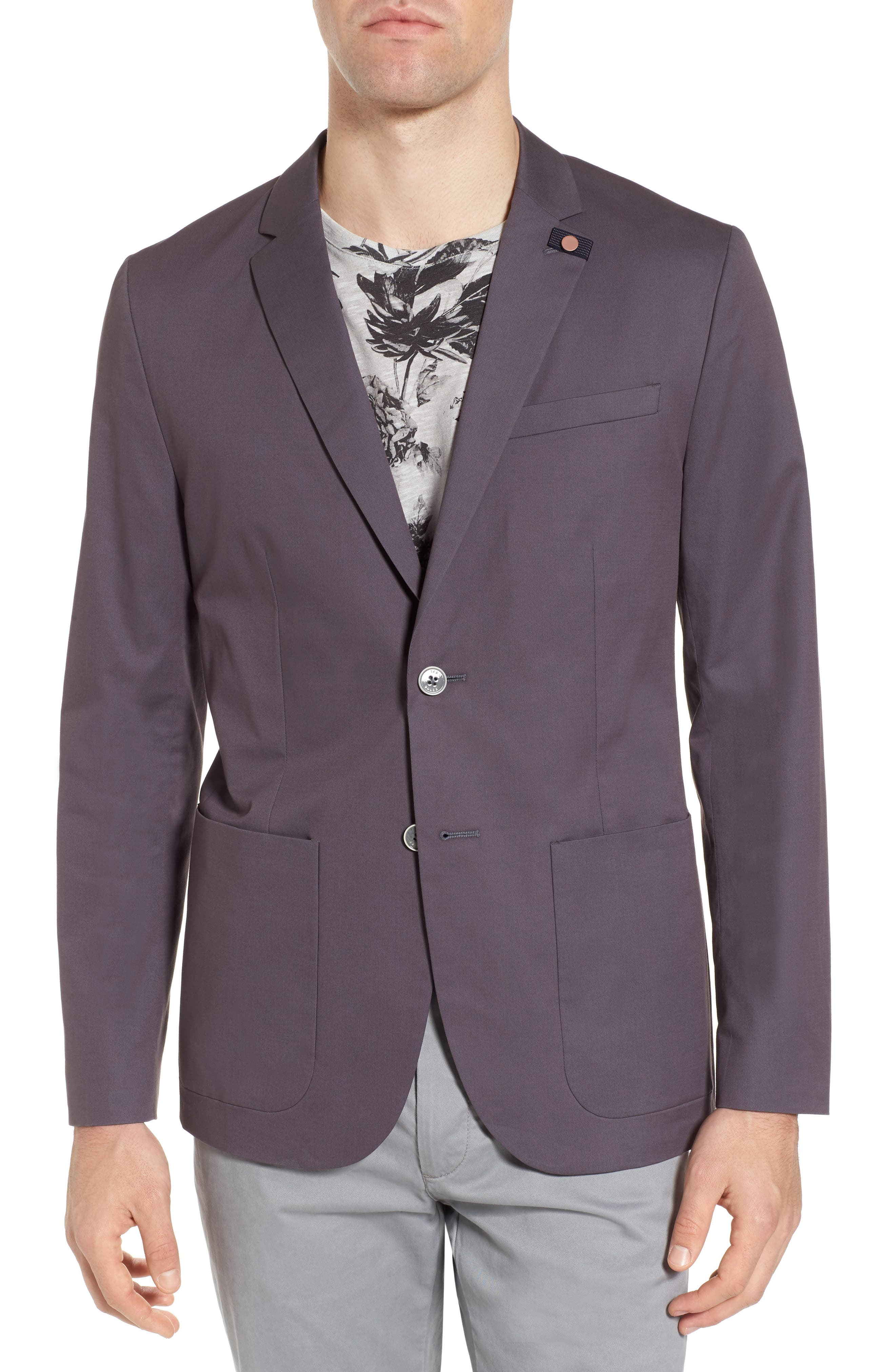 Cliford Trim Fit Stretch Cotton Blazer,                             Main thumbnail 1, color,                             050