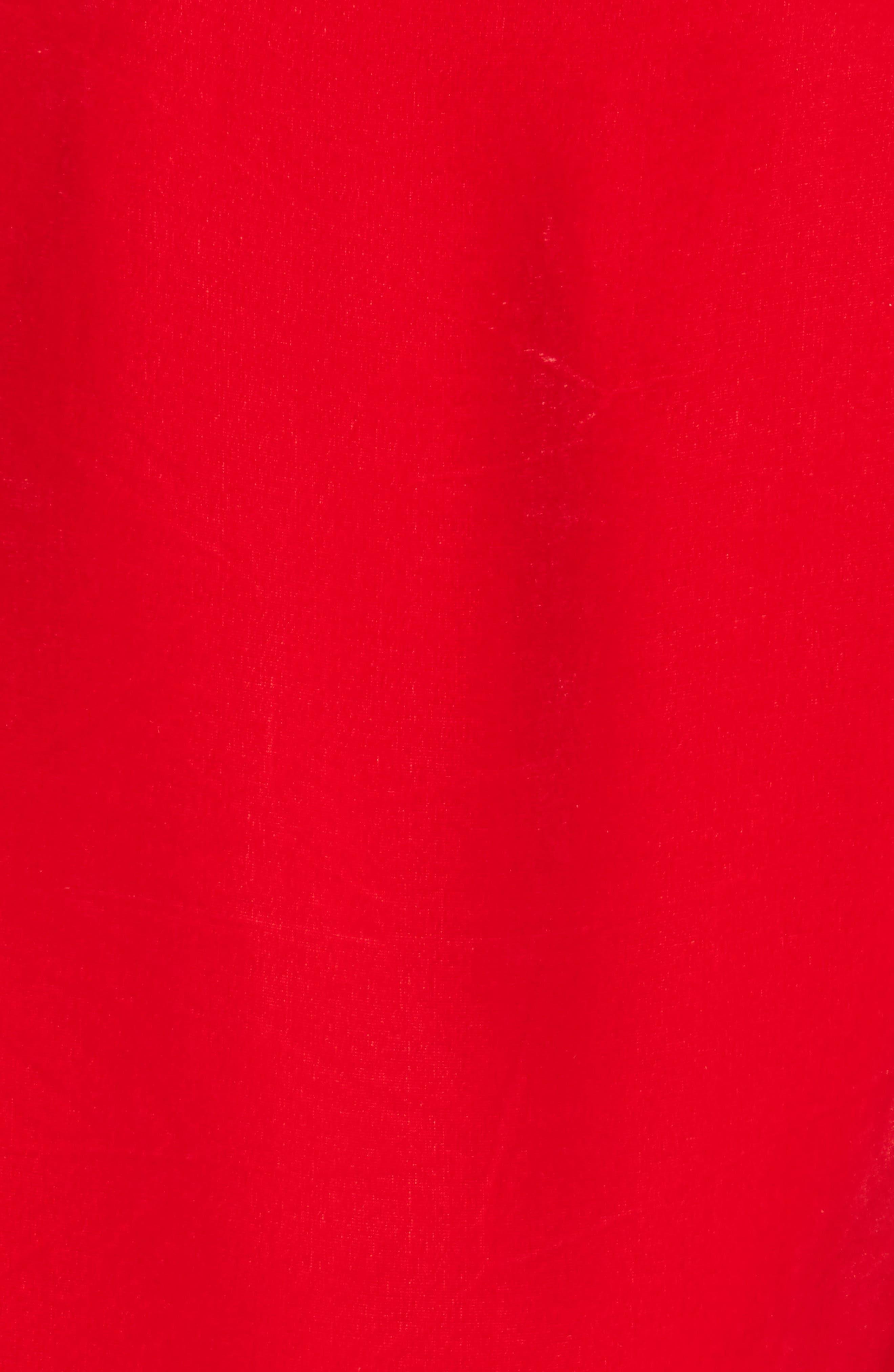 Drawstring Velvet Dress,                             Alternate thumbnail 5, color,                             600