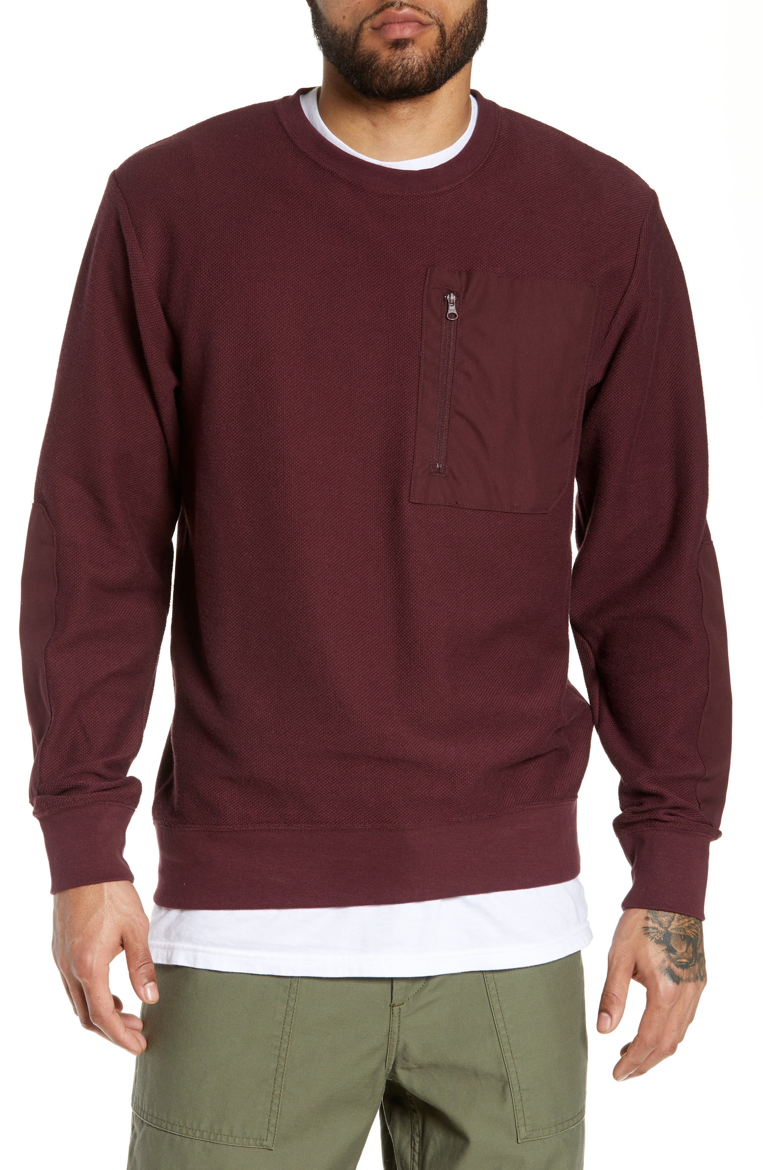 Nike Sb Long Sleeve T-Shirt, Burgundy