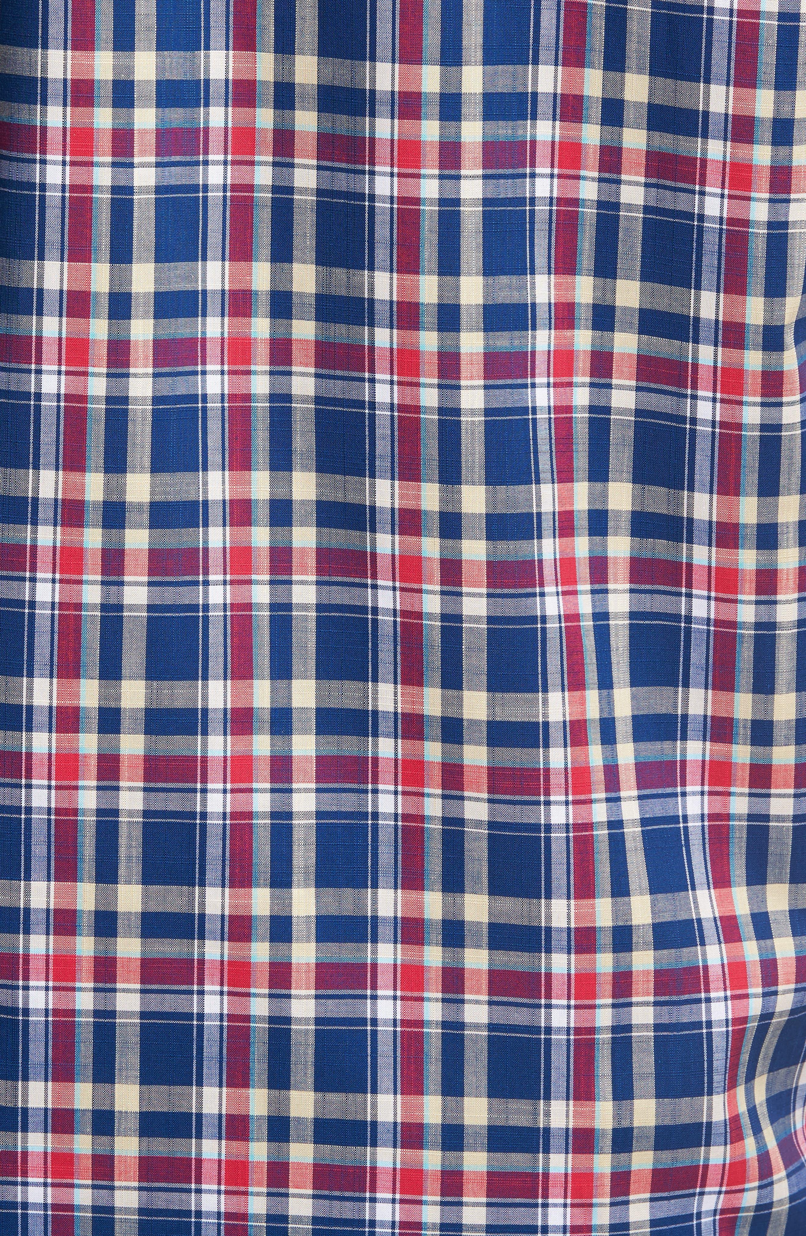 Sebastian Classic Fit Non-Iron Plaid Sport Shirt,                             Alternate thumbnail 10, color,