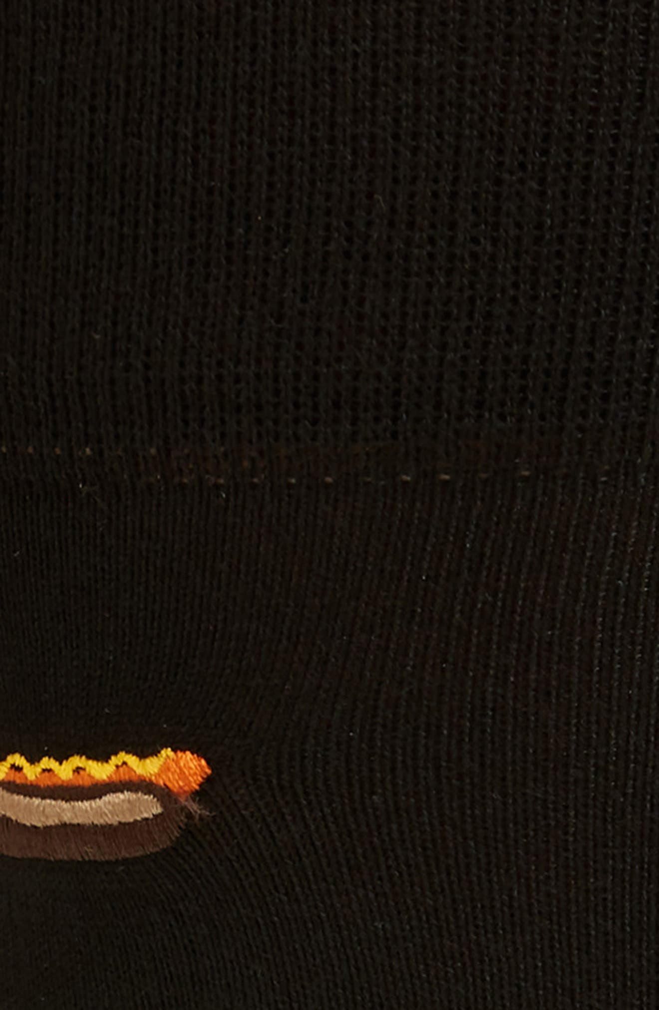 Food Socks,                             Alternate thumbnail 2, color,                             BLACK