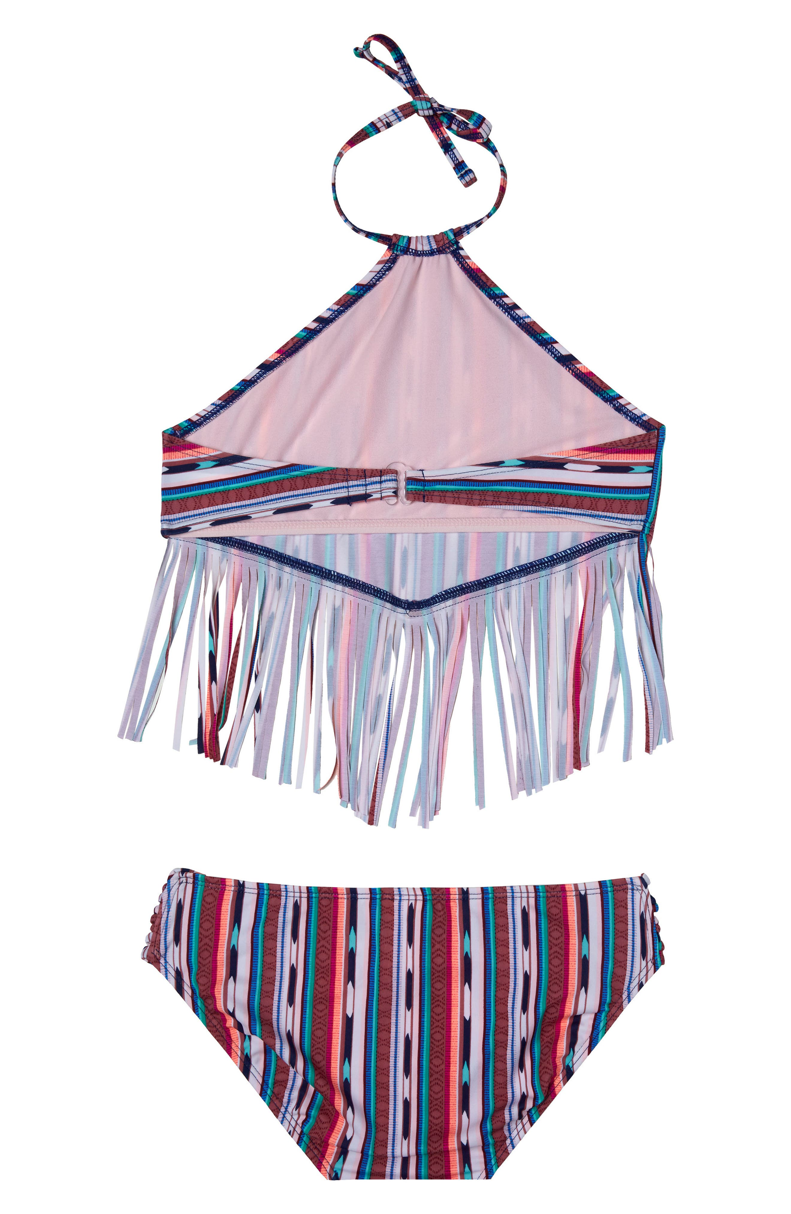 Desert Stripe Two-Piece Swimsuit,                             Alternate thumbnail 2, color,                             NAVY