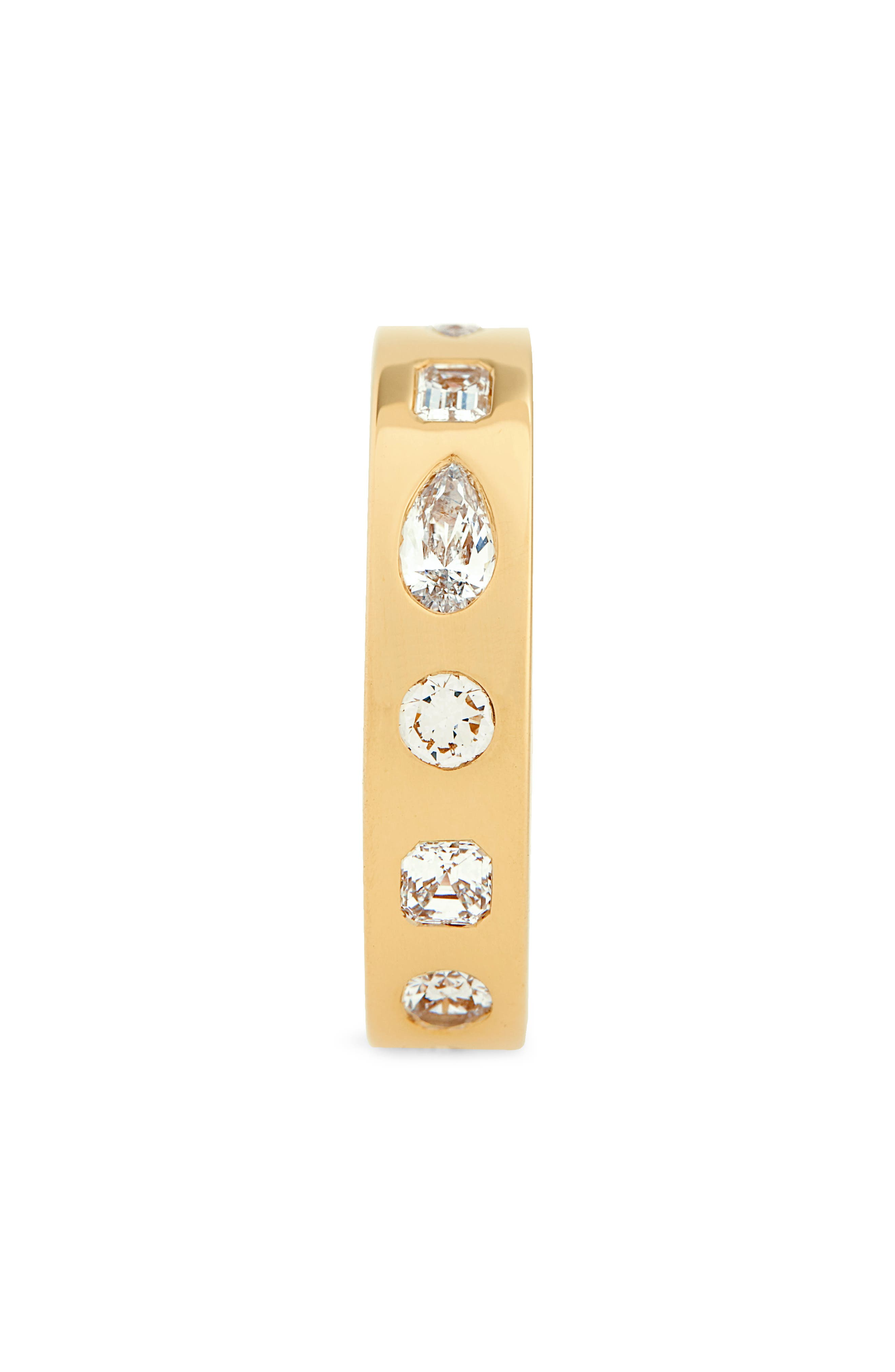 Multi Shape Diamond Stacking Ring,                             Alternate thumbnail 2, color,                             YELLOW GOLD