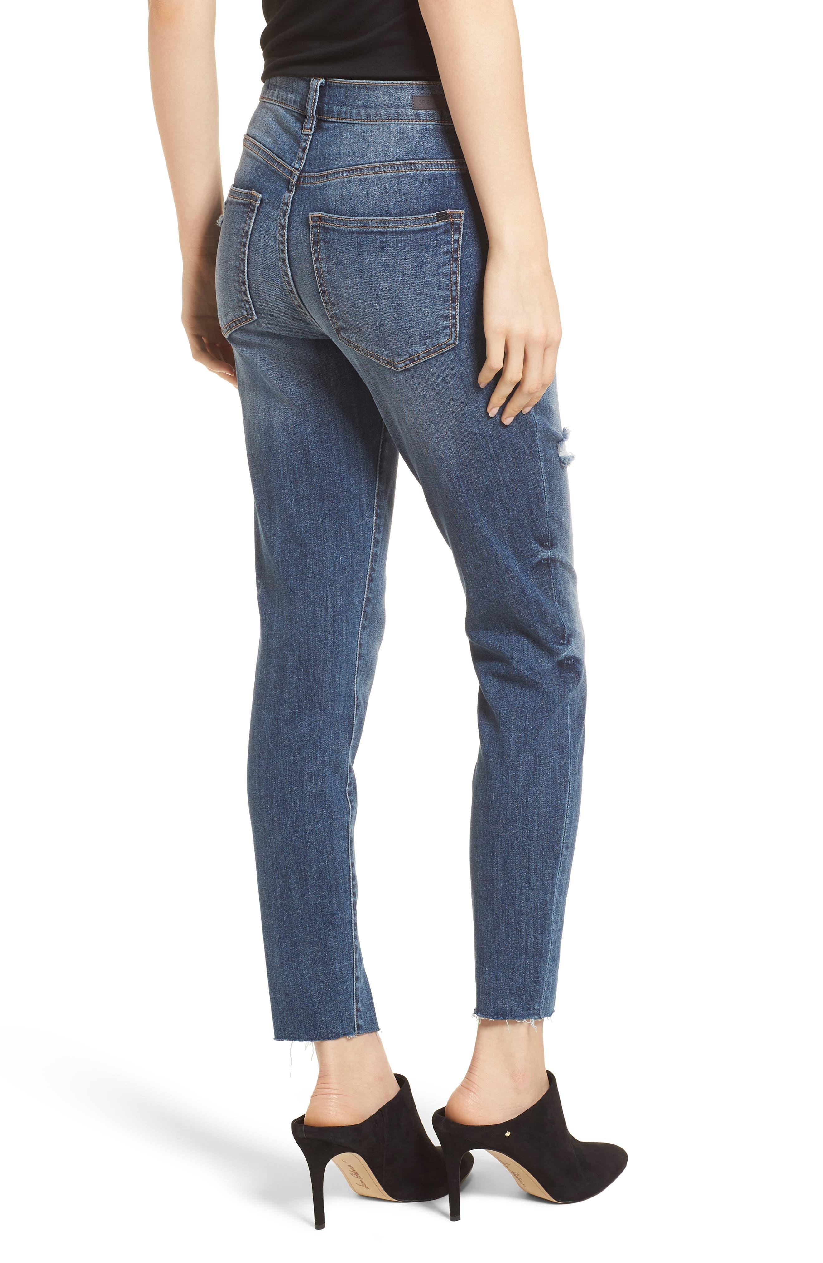 Split Hem Skinny Jeans,                             Alternate thumbnail 2, color,