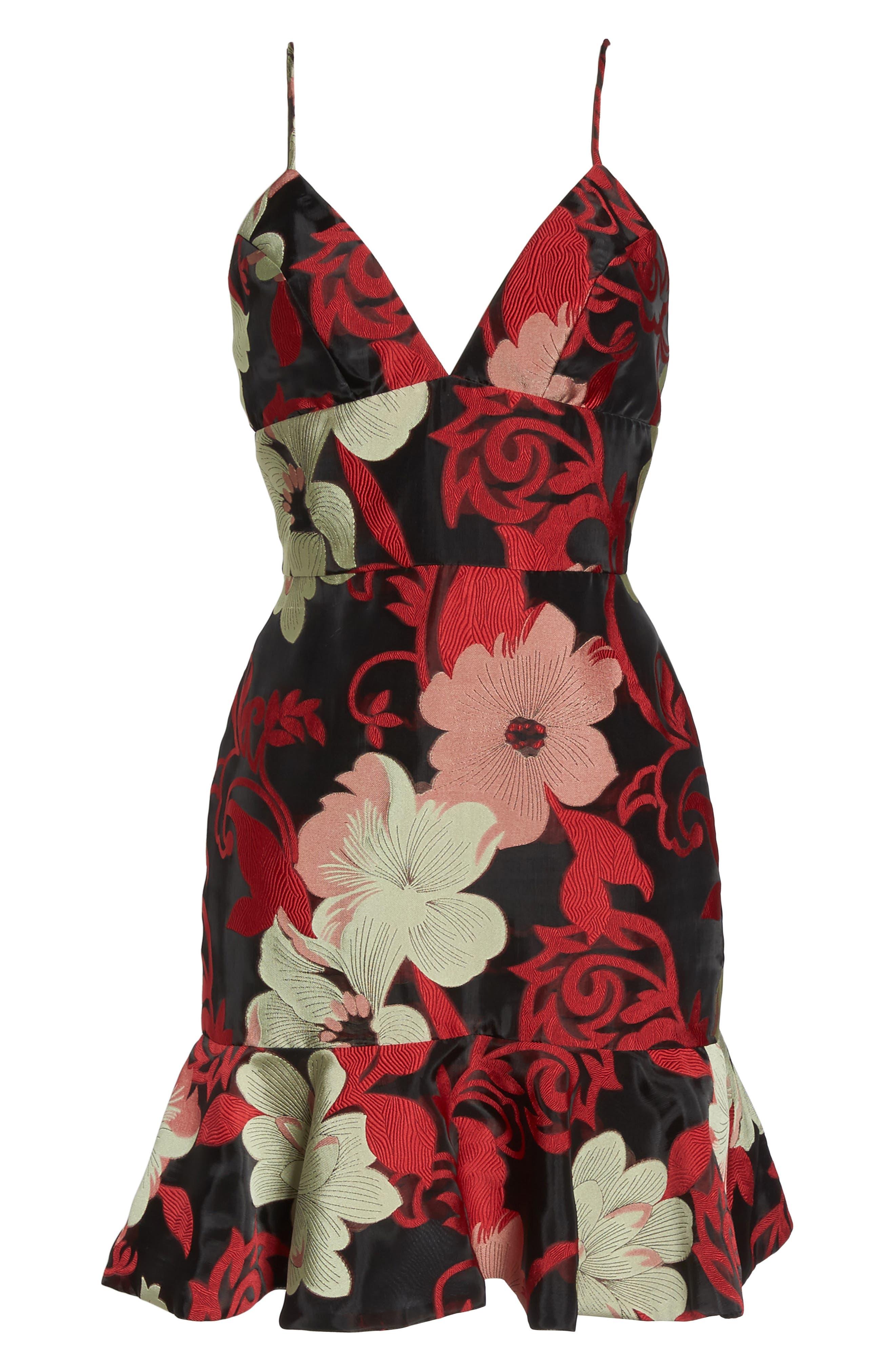 New York Deia Ruffle Dress,                             Alternate thumbnail 6, color,                             060
