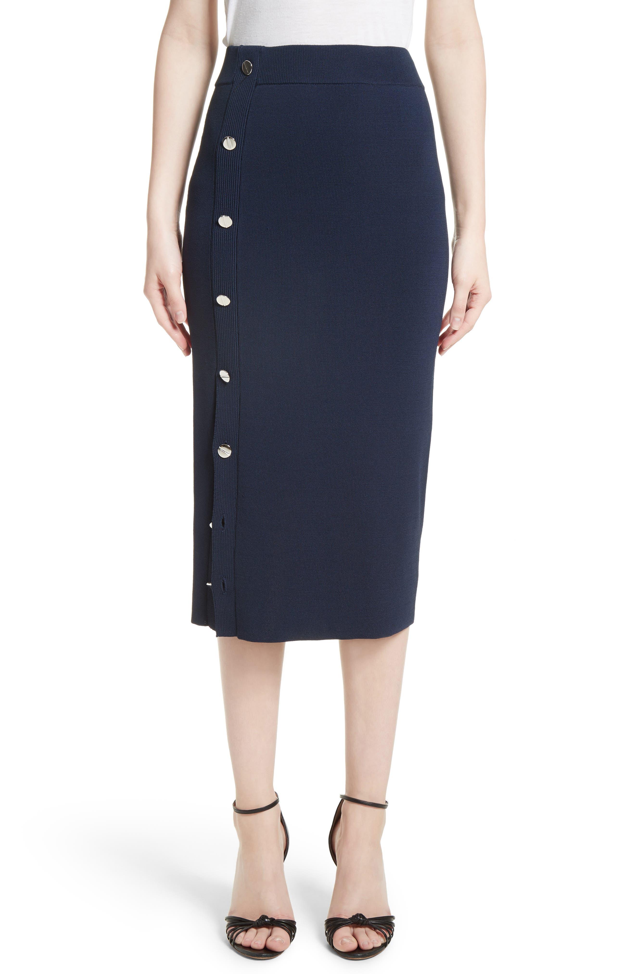 Button Detail Knit Pencil Skirt,                         Main,                         color,