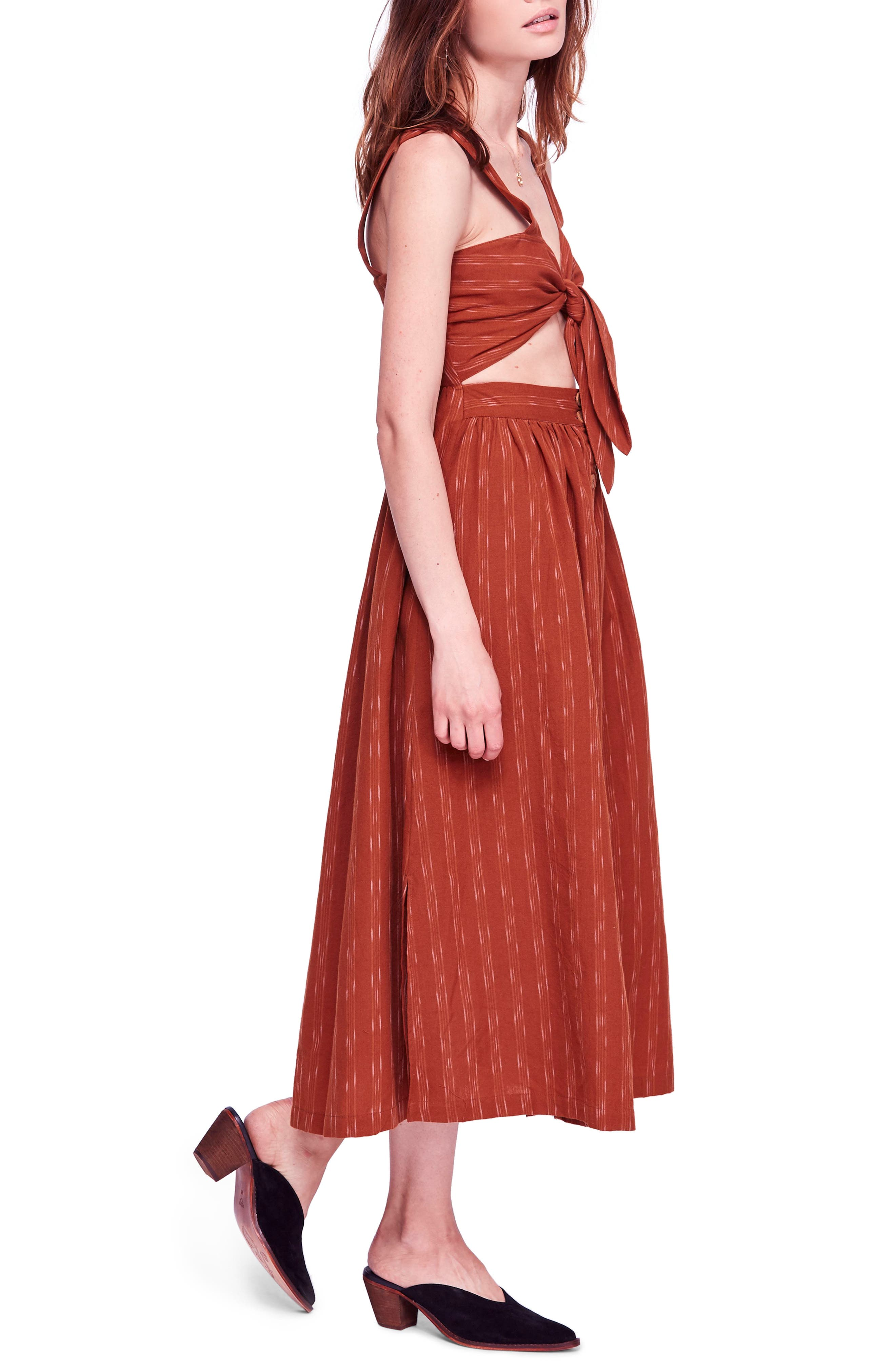 Caldasi Midi Dress,                             Alternate thumbnail 3, color,                             205