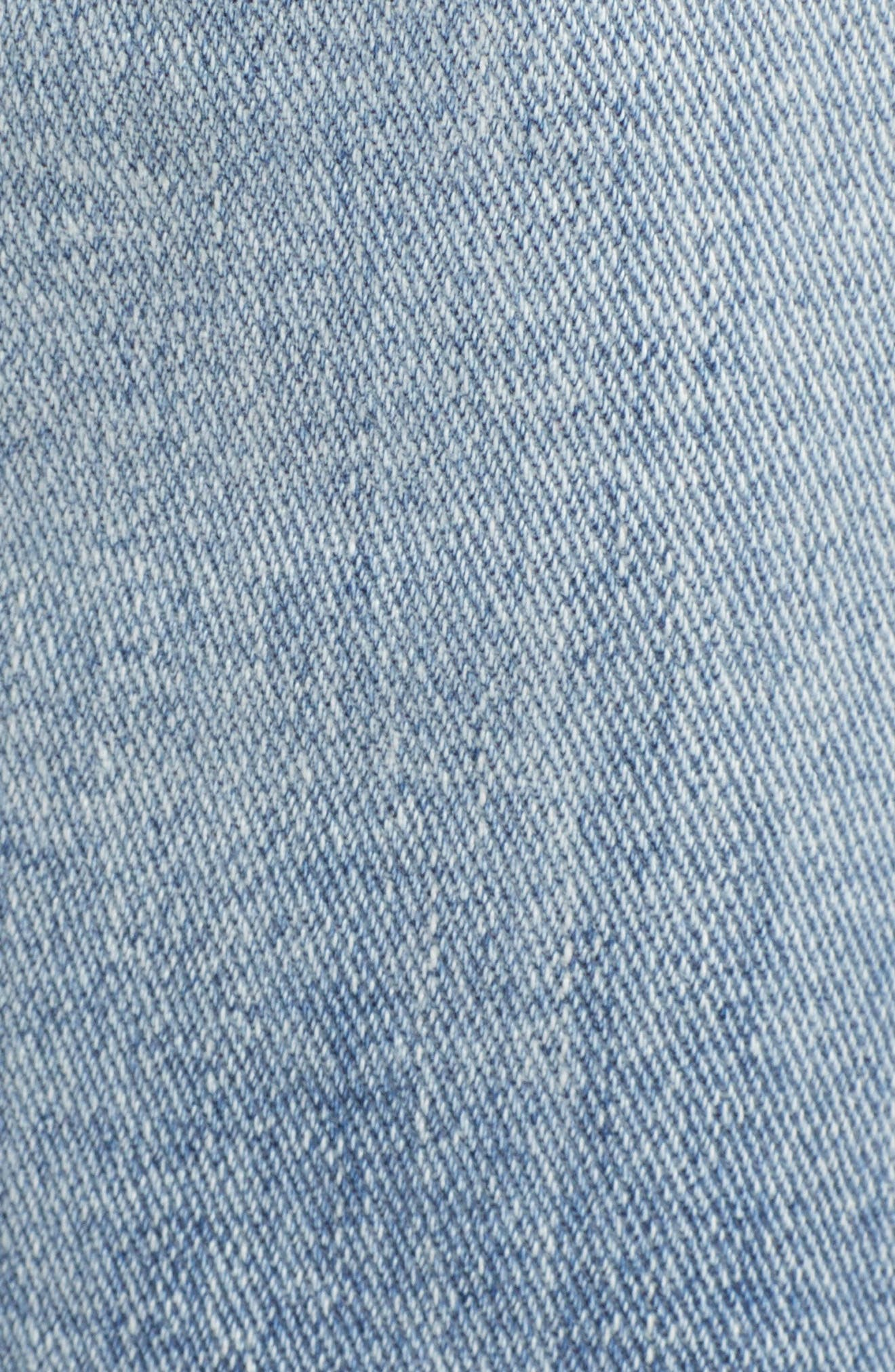 Jagger Ripped Skinny Jeans,                             Alternate thumbnail 6, color,                             LIGHT WASH