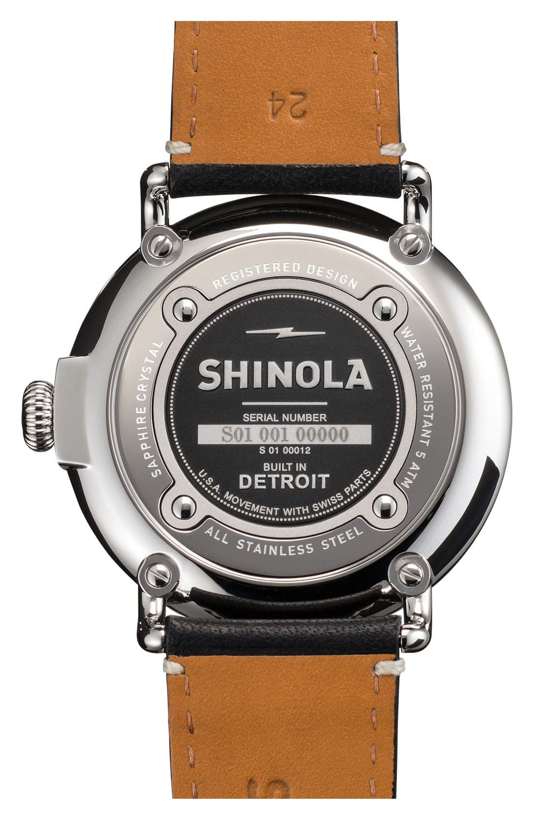 'The Runwell' Leather Strap Watch, 47mm,                             Alternate thumbnail 53, color,