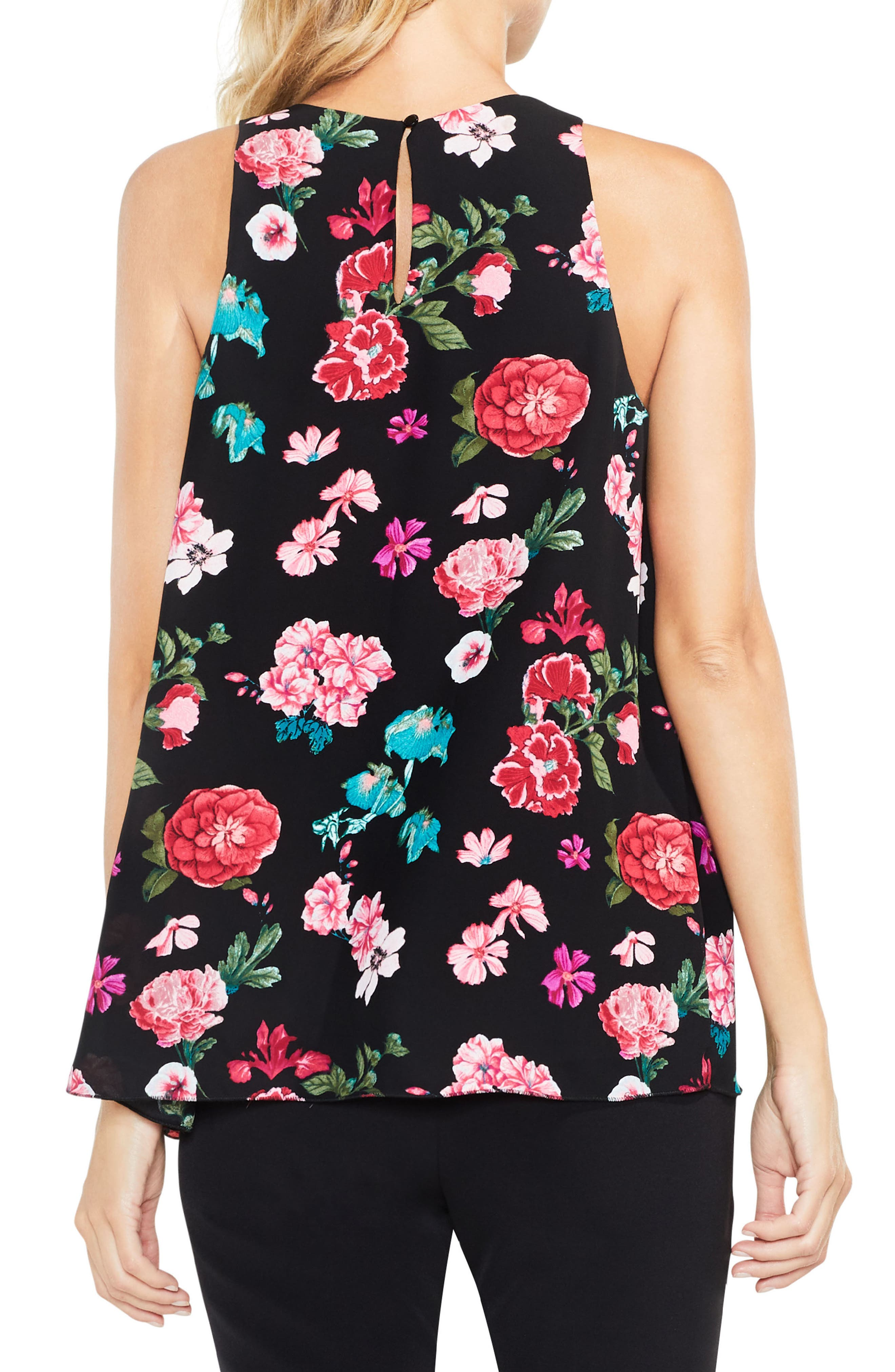 Floral Heirlooms Sleeveless Blouse,                             Alternate thumbnail 2, color,                             006
