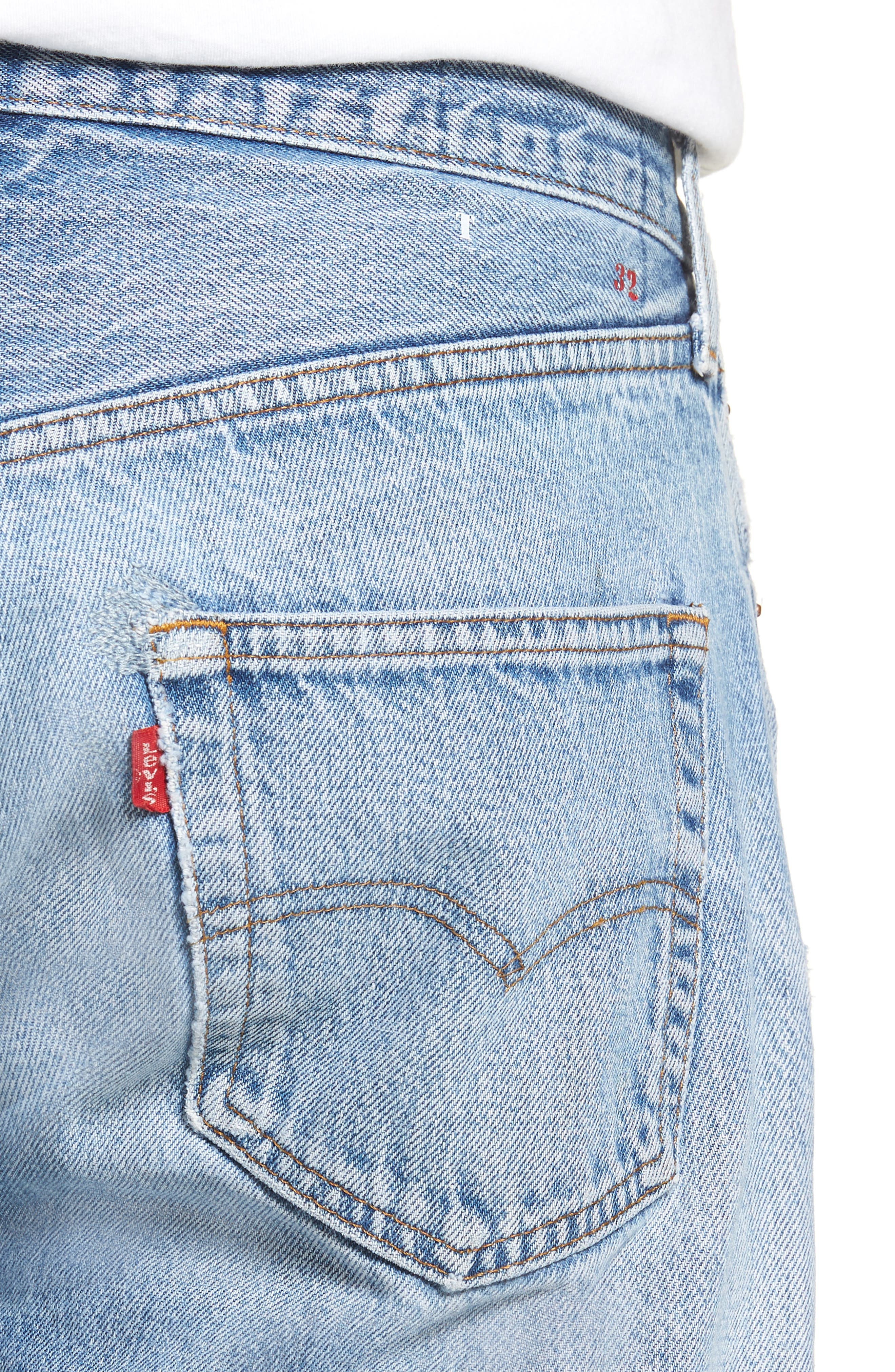Authorized Vintage 501<sup>™</sup> Tapered Slim Fit Jeans,                             Alternate thumbnail 4, color,                             AV BLUE