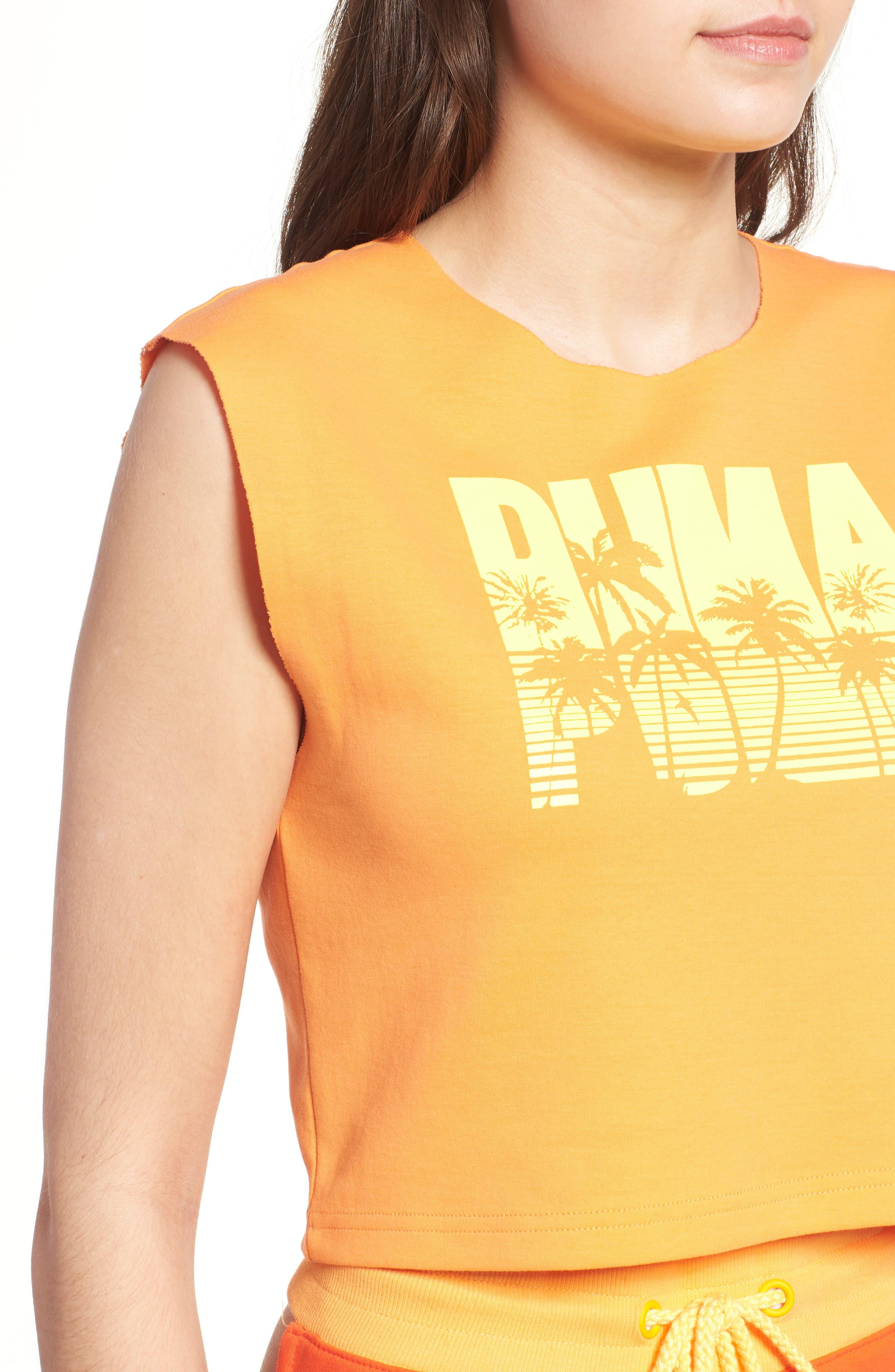 FENTY PUMA by Rihanna Crop Top,                             Alternate thumbnail 4, color,