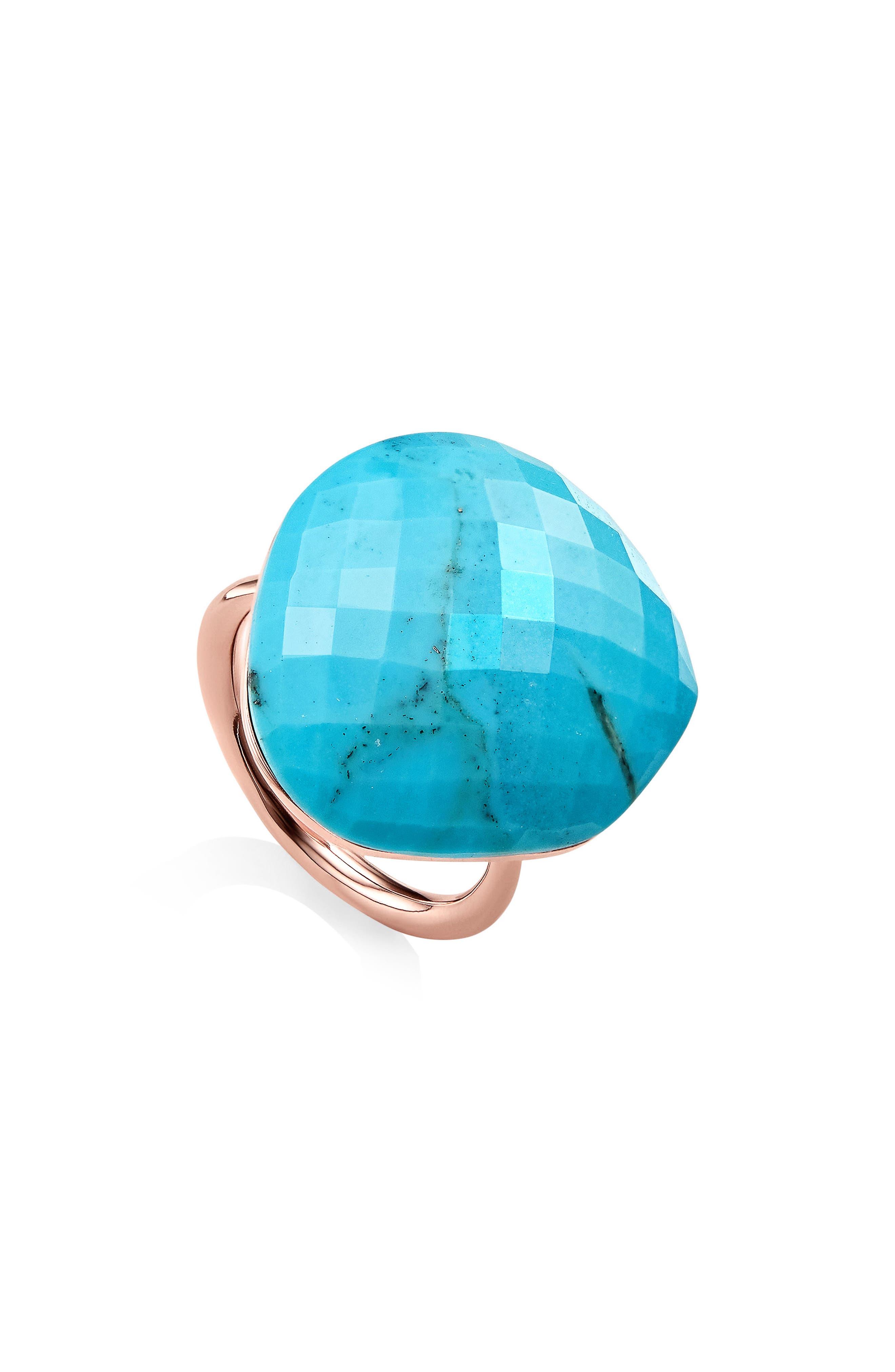 Nura Large Pebble Ring,                             Main thumbnail 1, color,                             TURQUOISE