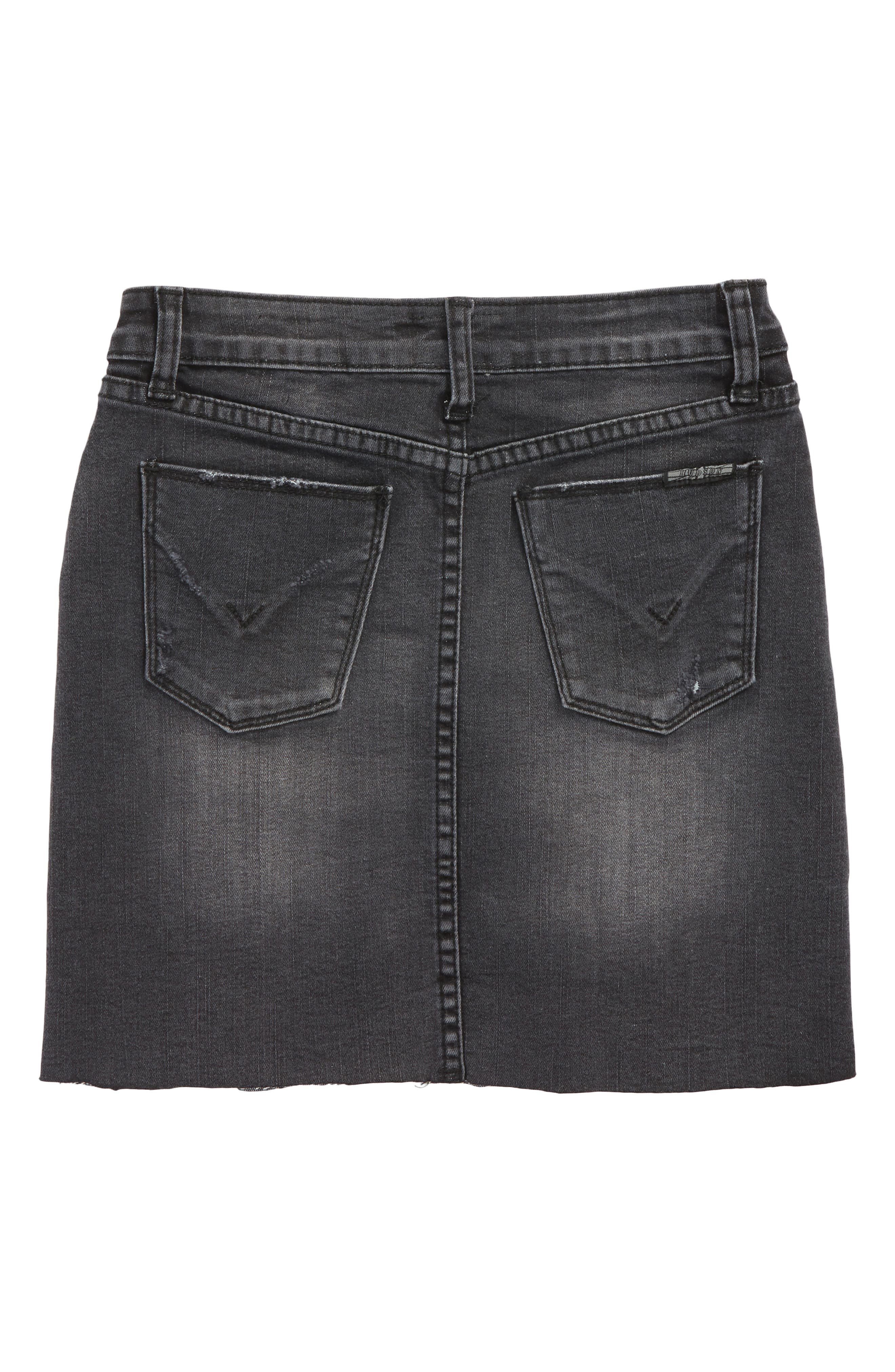 Tara Cutoff Denim Skirt,                             Alternate thumbnail 2, color,                             001