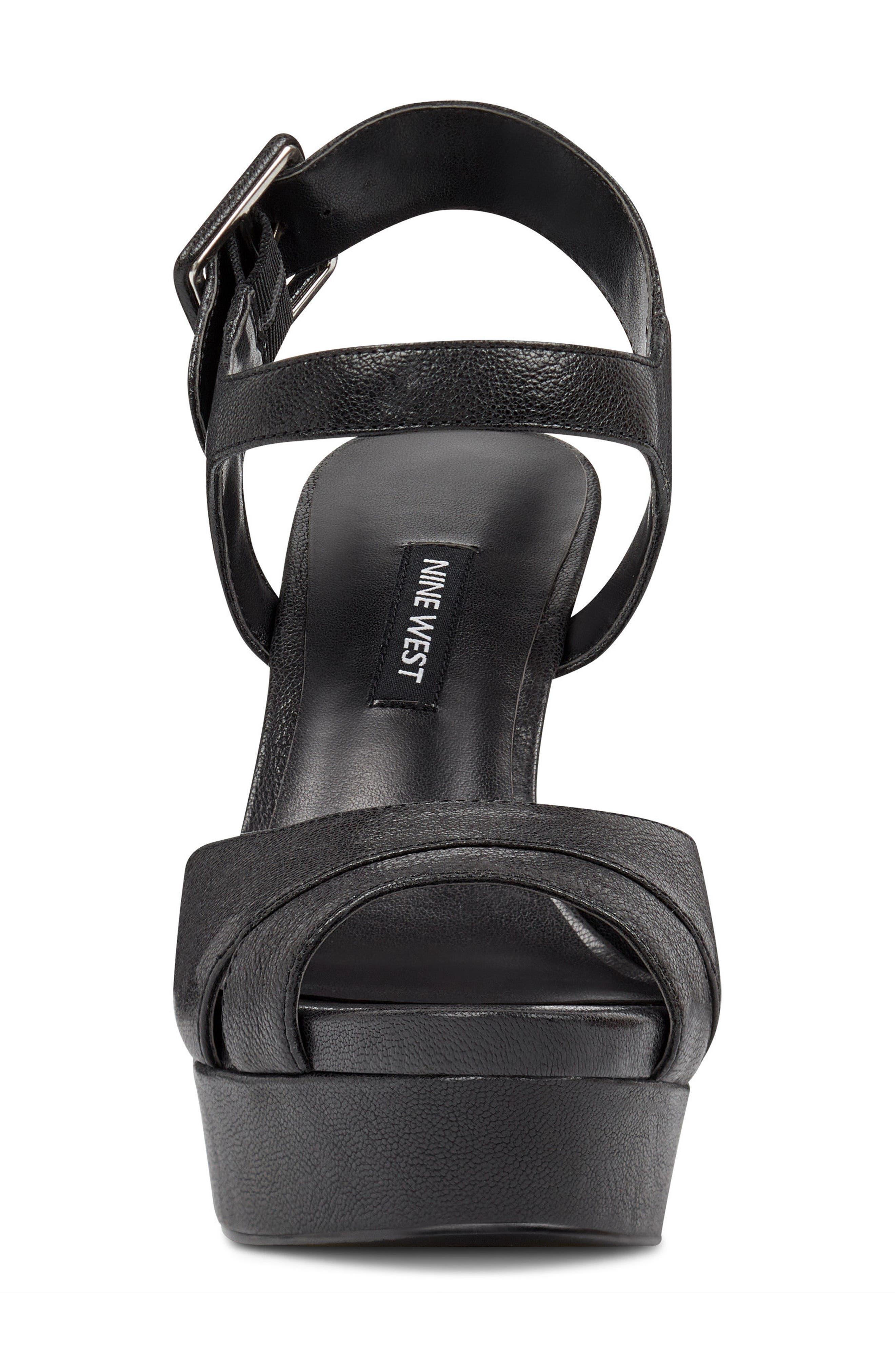 NINE WEST,                             Ibyn Platform Sandal,                             Alternate thumbnail 4, color,                             002