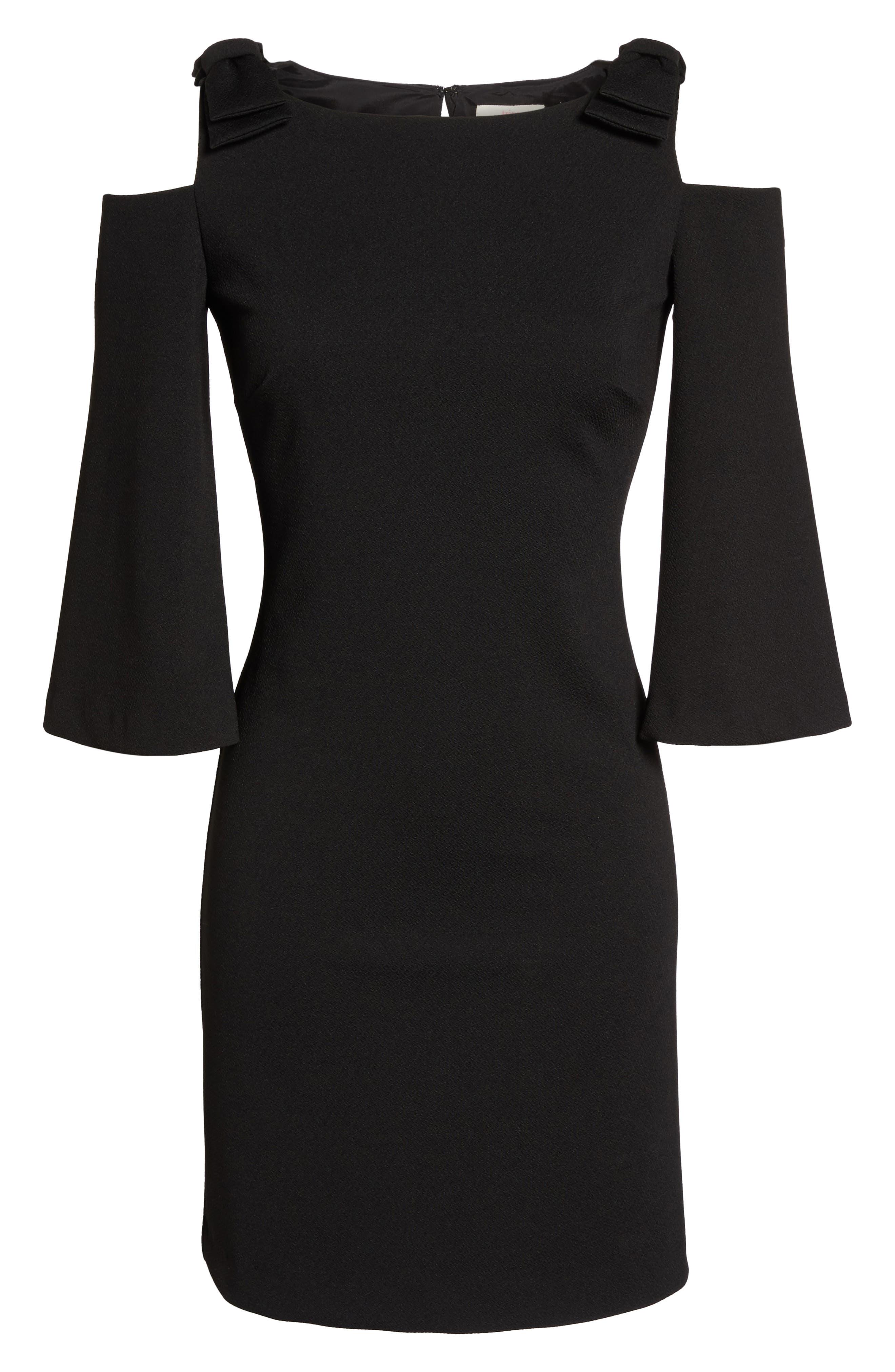 Aria Cold Shoulder Sheath Dress,                             Alternate thumbnail 6, color,                             001