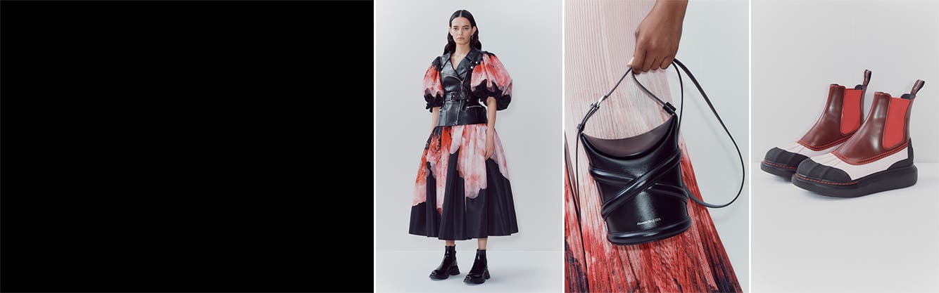 Alexander McQueen collection: women's clothing, shoes and accessories.