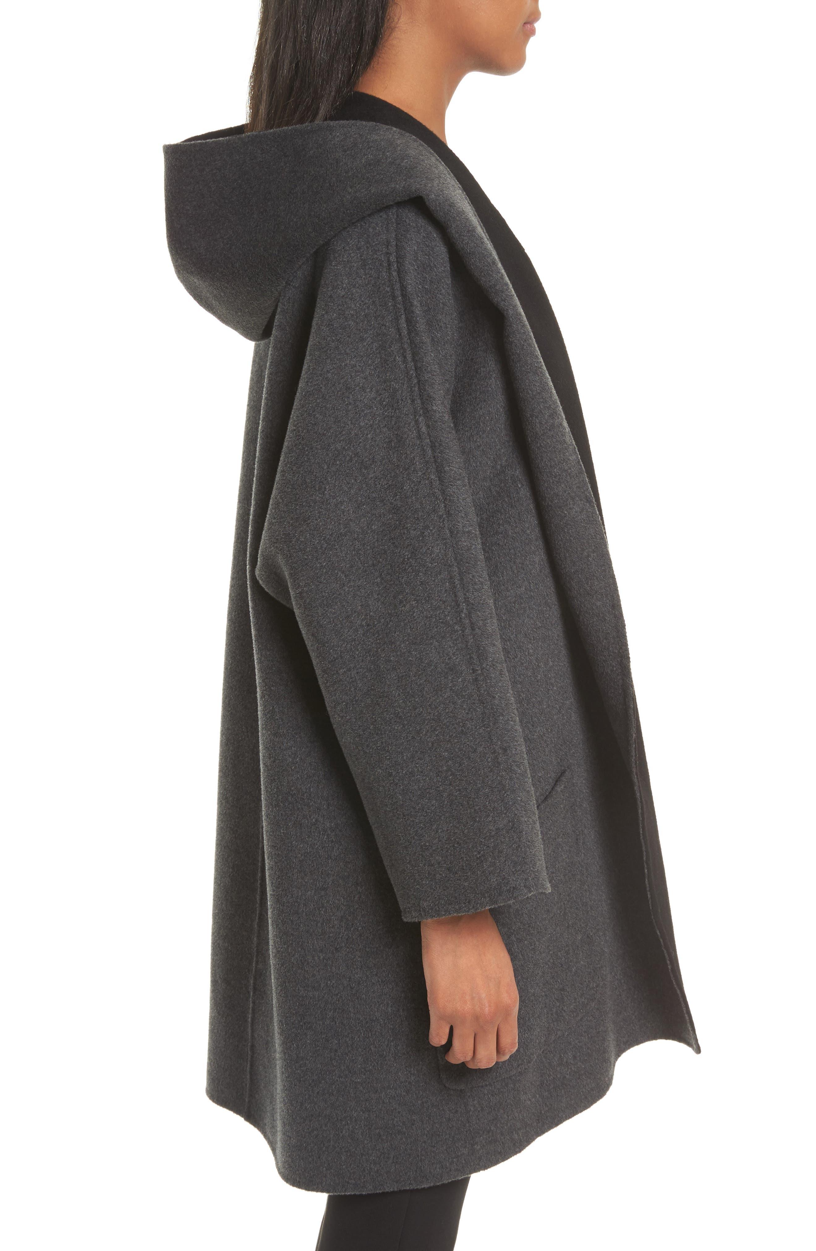 Double Face Wool & Cashmere Coat,                             Alternate thumbnail 3, color,                             060