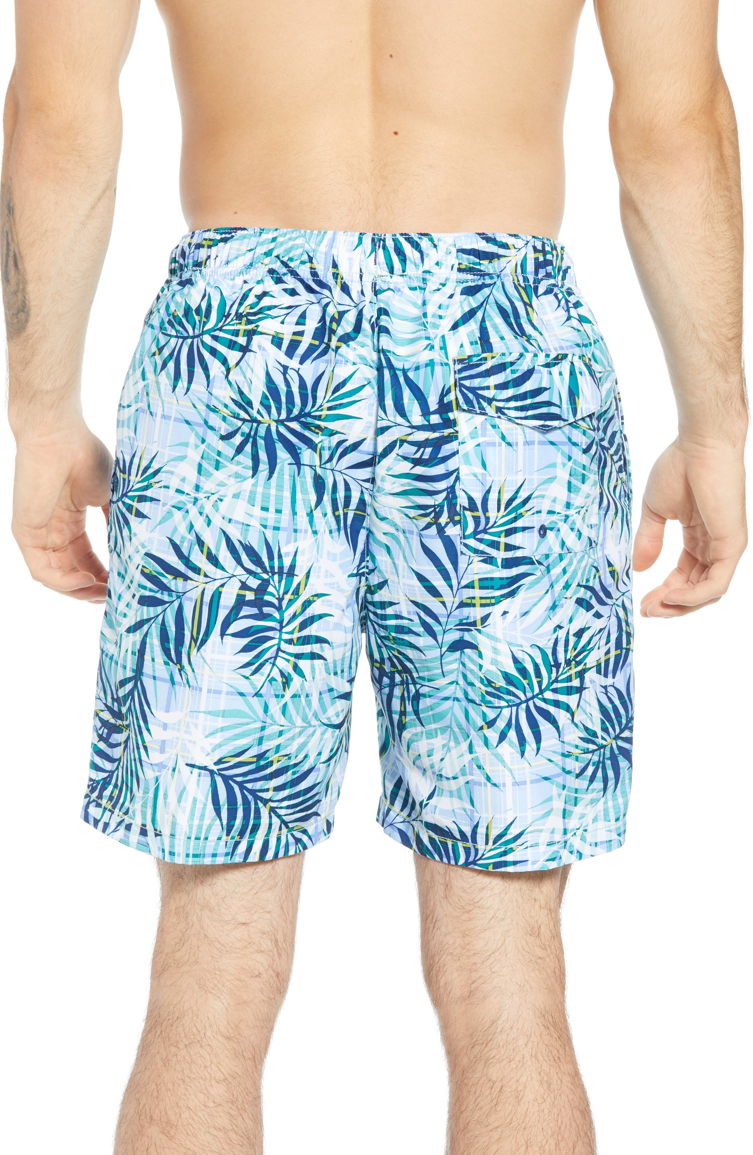 Naples Terraba Swim Trunks,                             Alternate thumbnail 2, color,                             AQUA ICE
