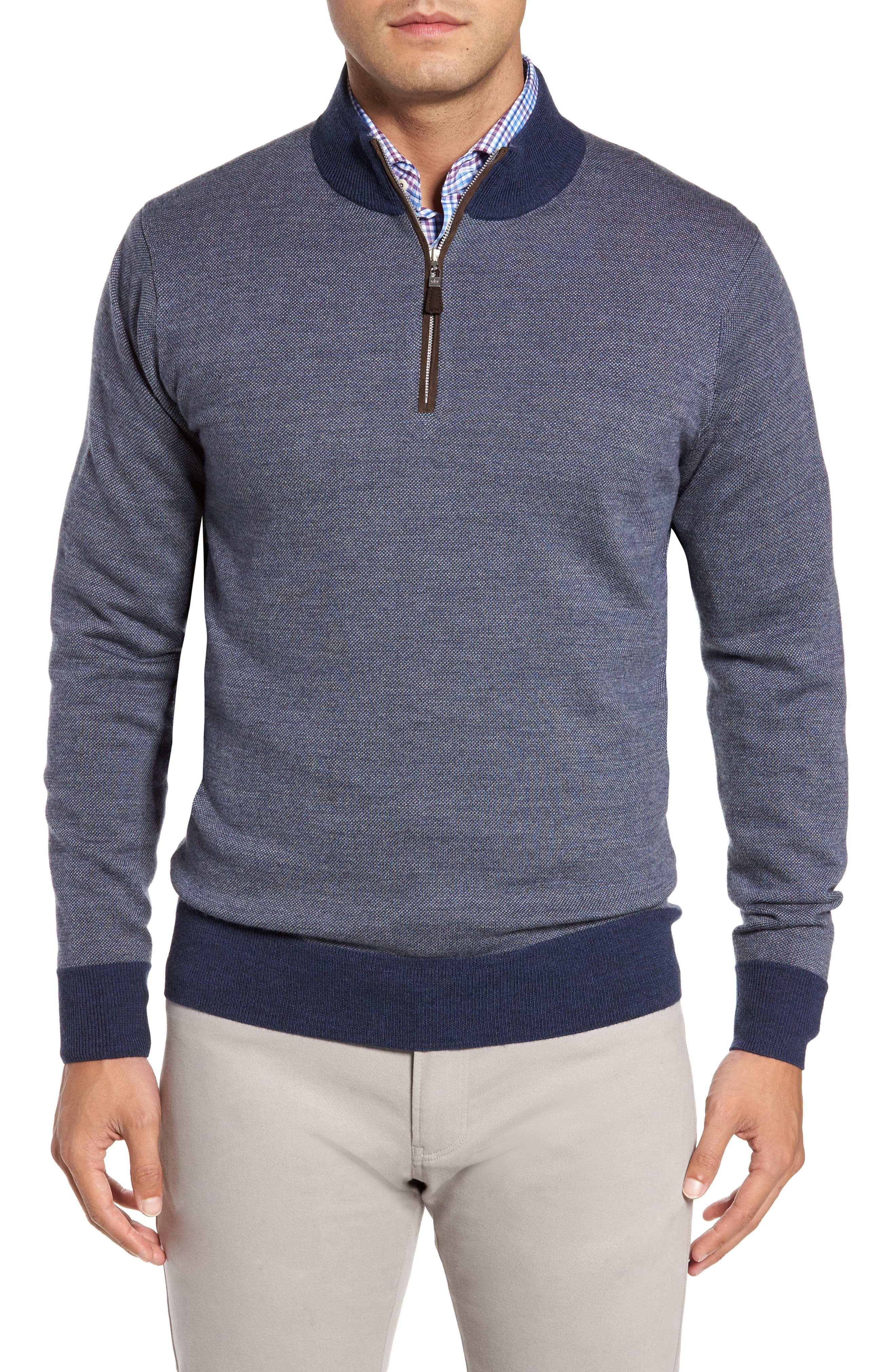 Quarter Zip Wool Pullover,                             Main thumbnail 1, color,                             415