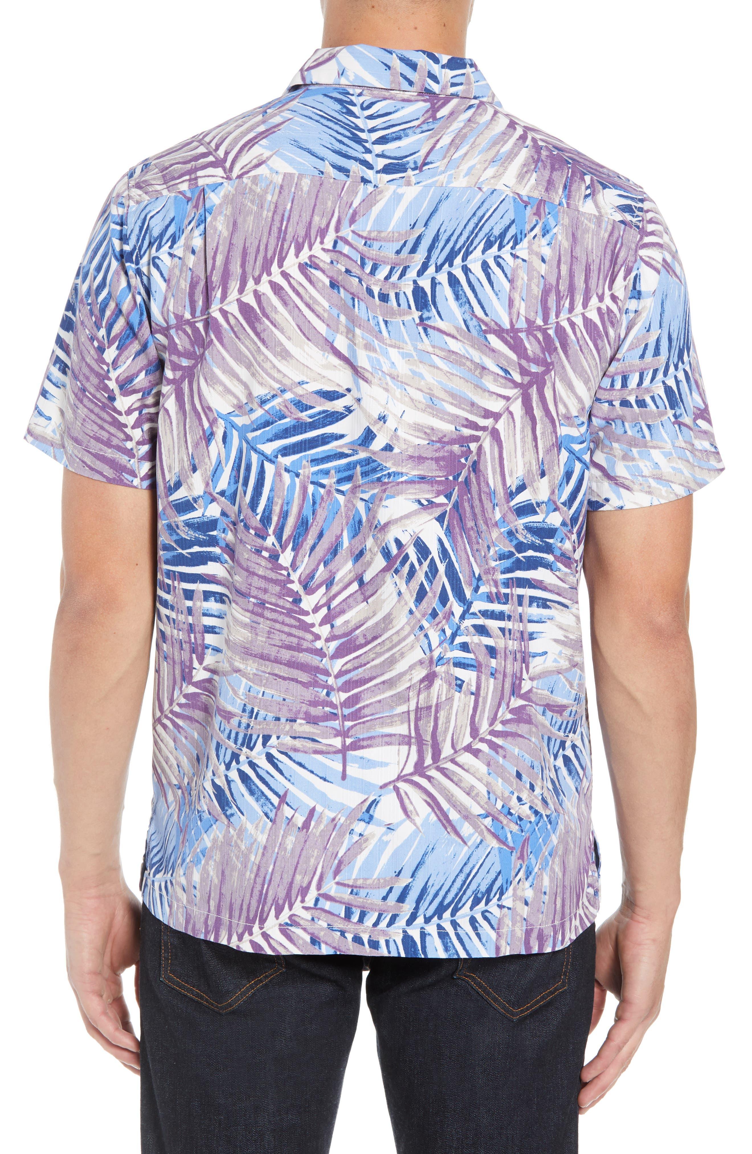 San Juan Fronds Silk Blend Camp Shirt,                             Alternate thumbnail 2, color,                             400