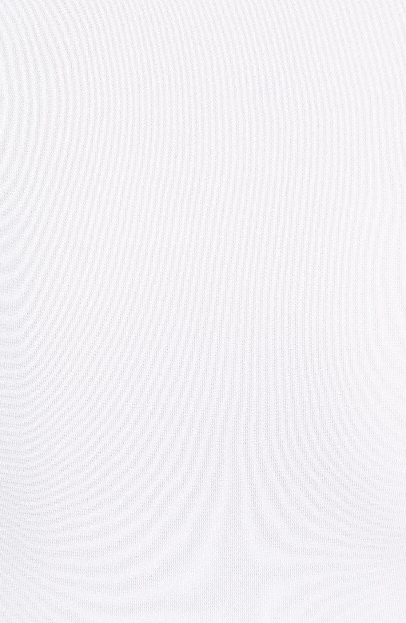 Hyper Dry Training T-Shirt,                             Alternate thumbnail 5, color,                             WHITE/ WHITE/ BLACK