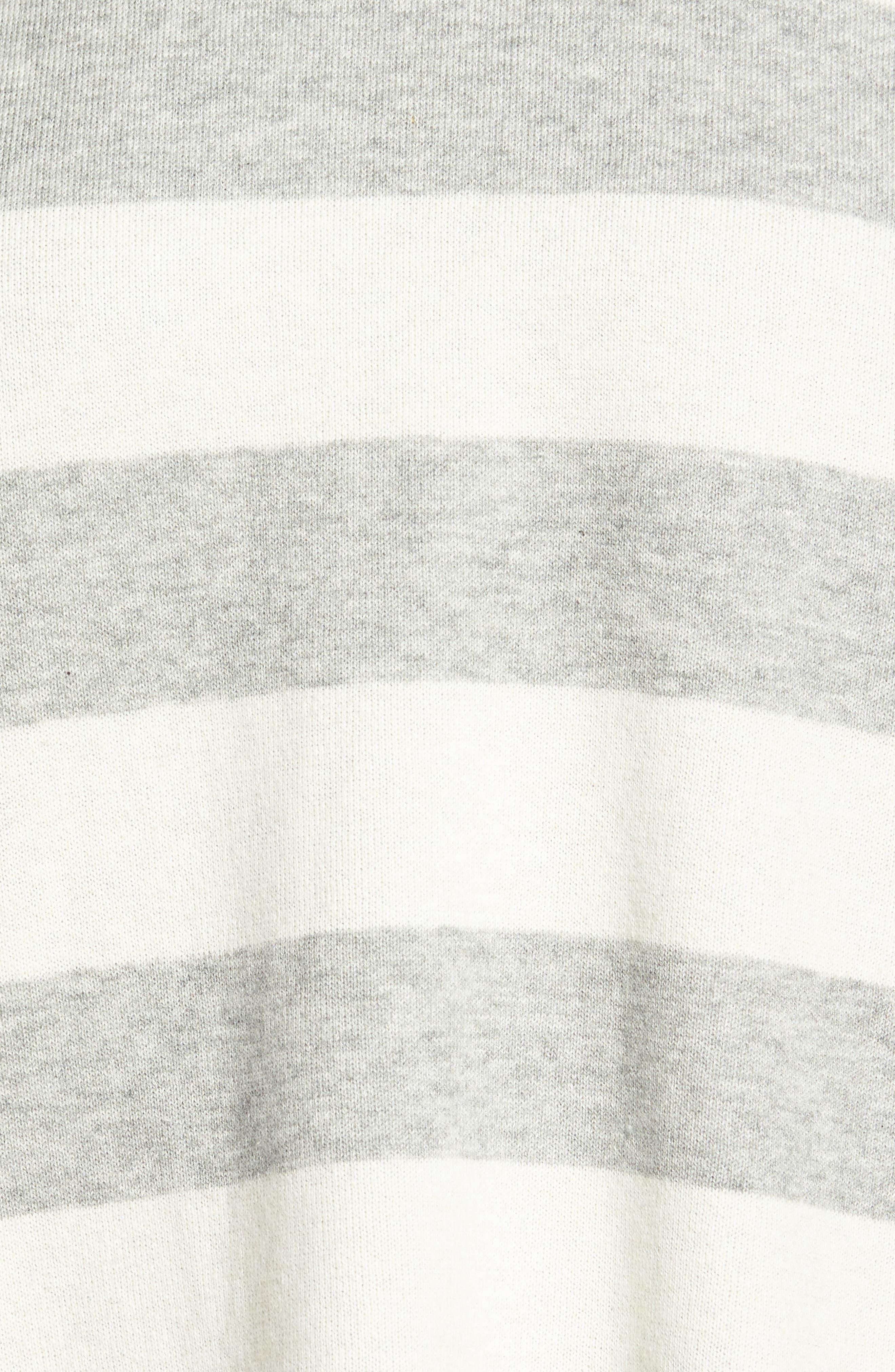 Stripe Organic Cotton Blend Top,                             Alternate thumbnail 5, color,                             038